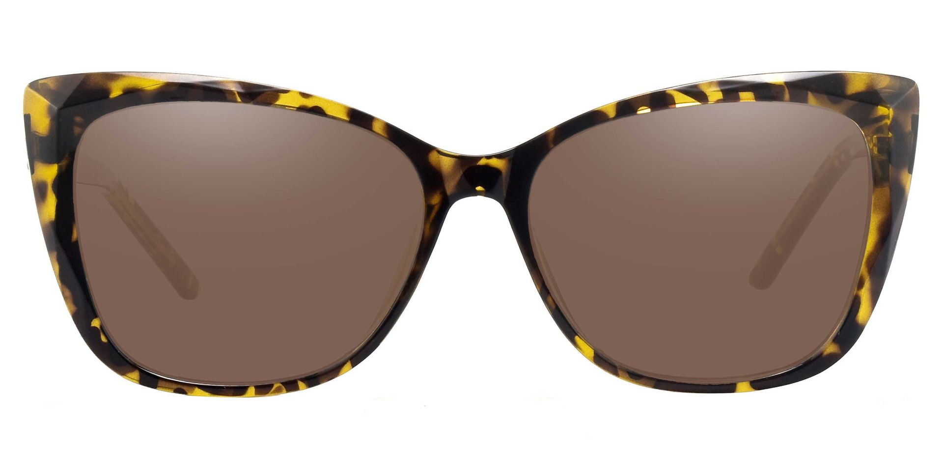 Mabel Square Non-Rx Sunglasses - Tortoise Frame With Brown Lenses