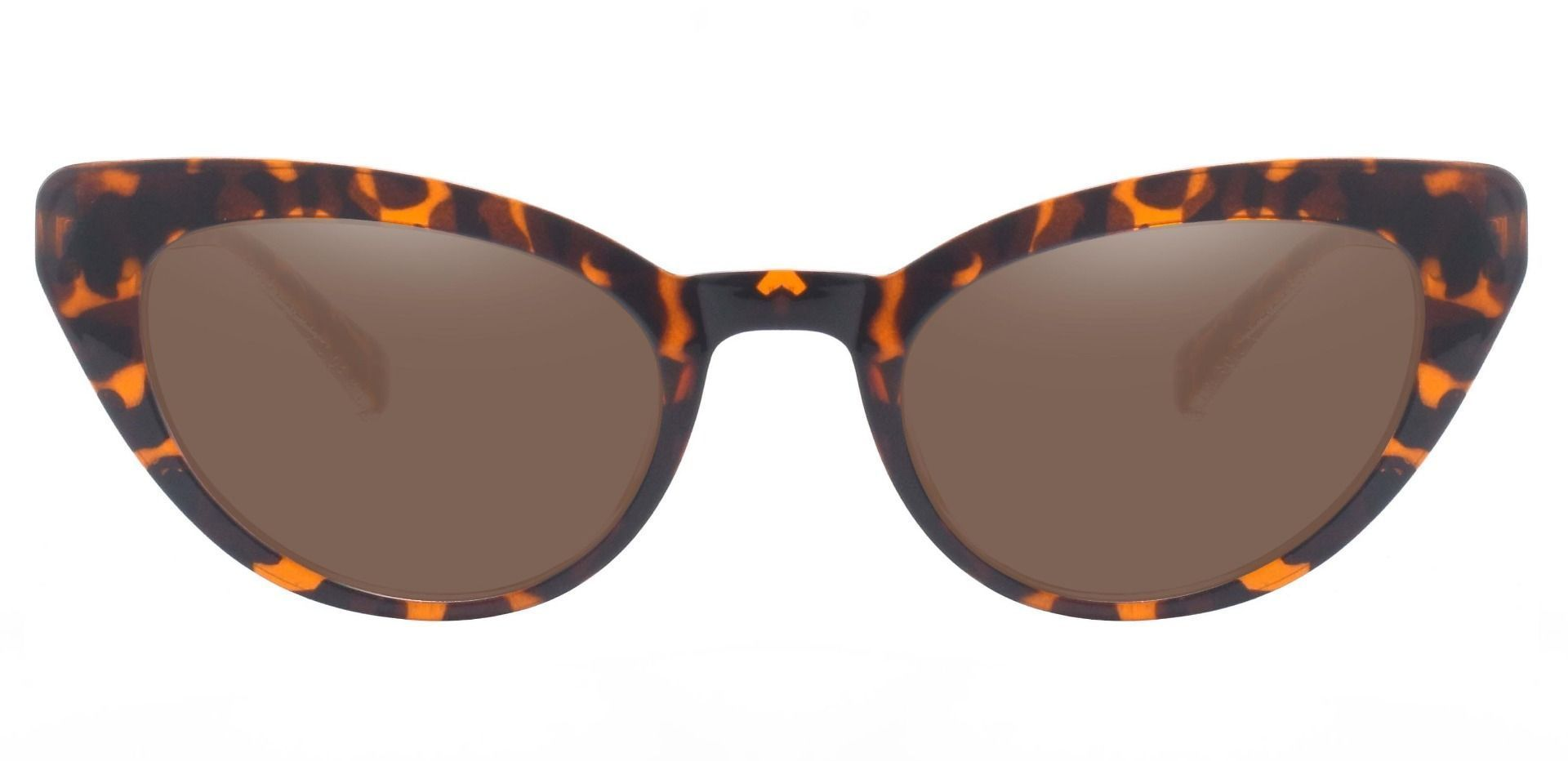 June Cat Eye Prescription Sunglasses - Leopard Frame With Brown Lenses