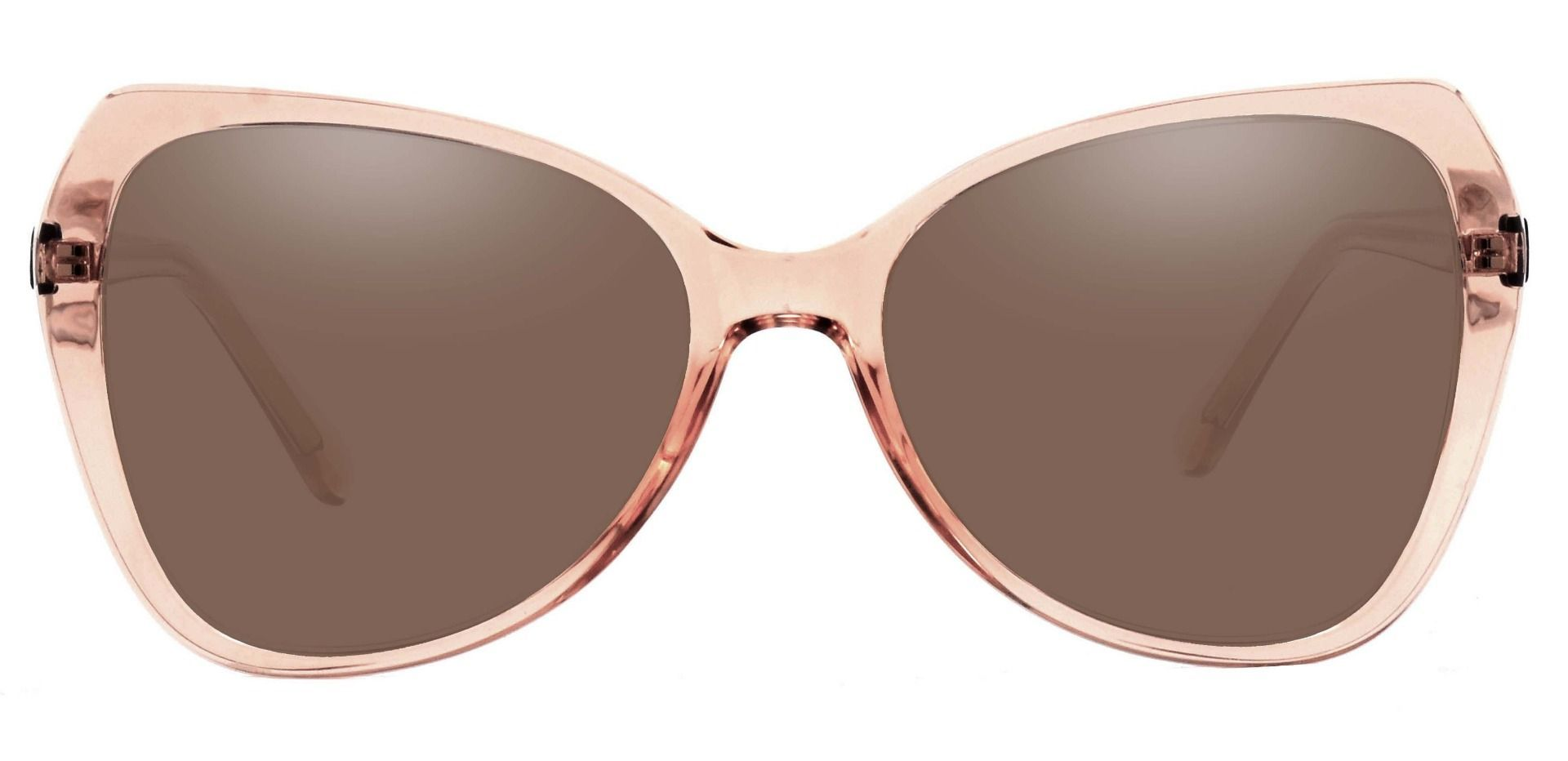 Kayla Geometric Non-Rx Sunglasses - Brown Frame With Brown Lenses