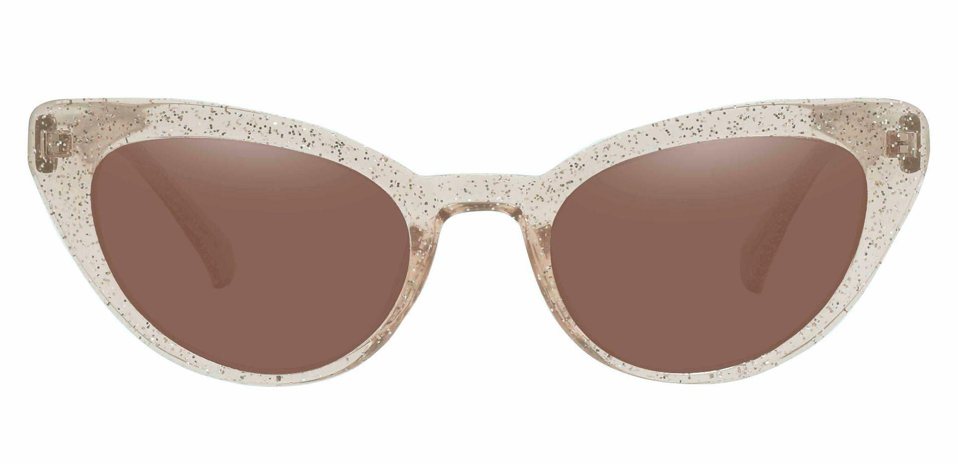 June Cat Eye Prescription Sunglasses - Brown Frame With Brown Lenses
