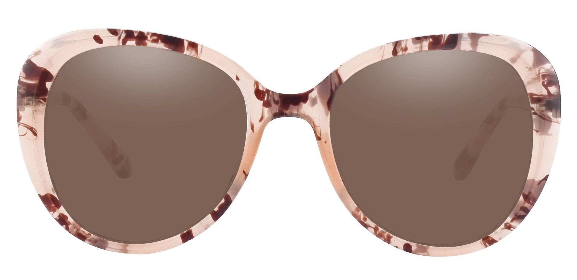 Sheridan Oval Prescription Sunglasses - Floral Frame With Brown Lenses