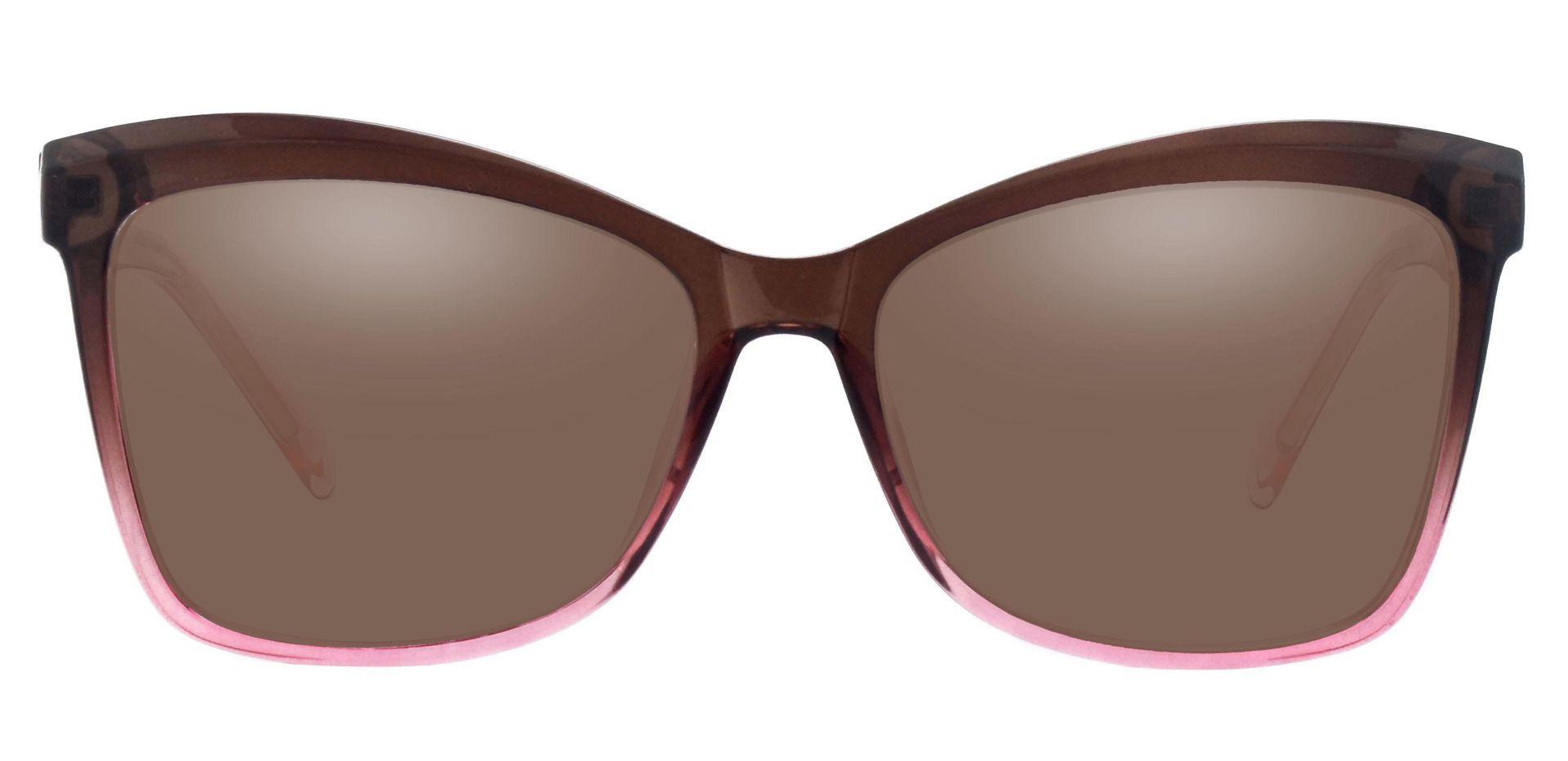 Lexi Cat Eye Progressive Sunglasses - Brown Frame With Brown Lenses