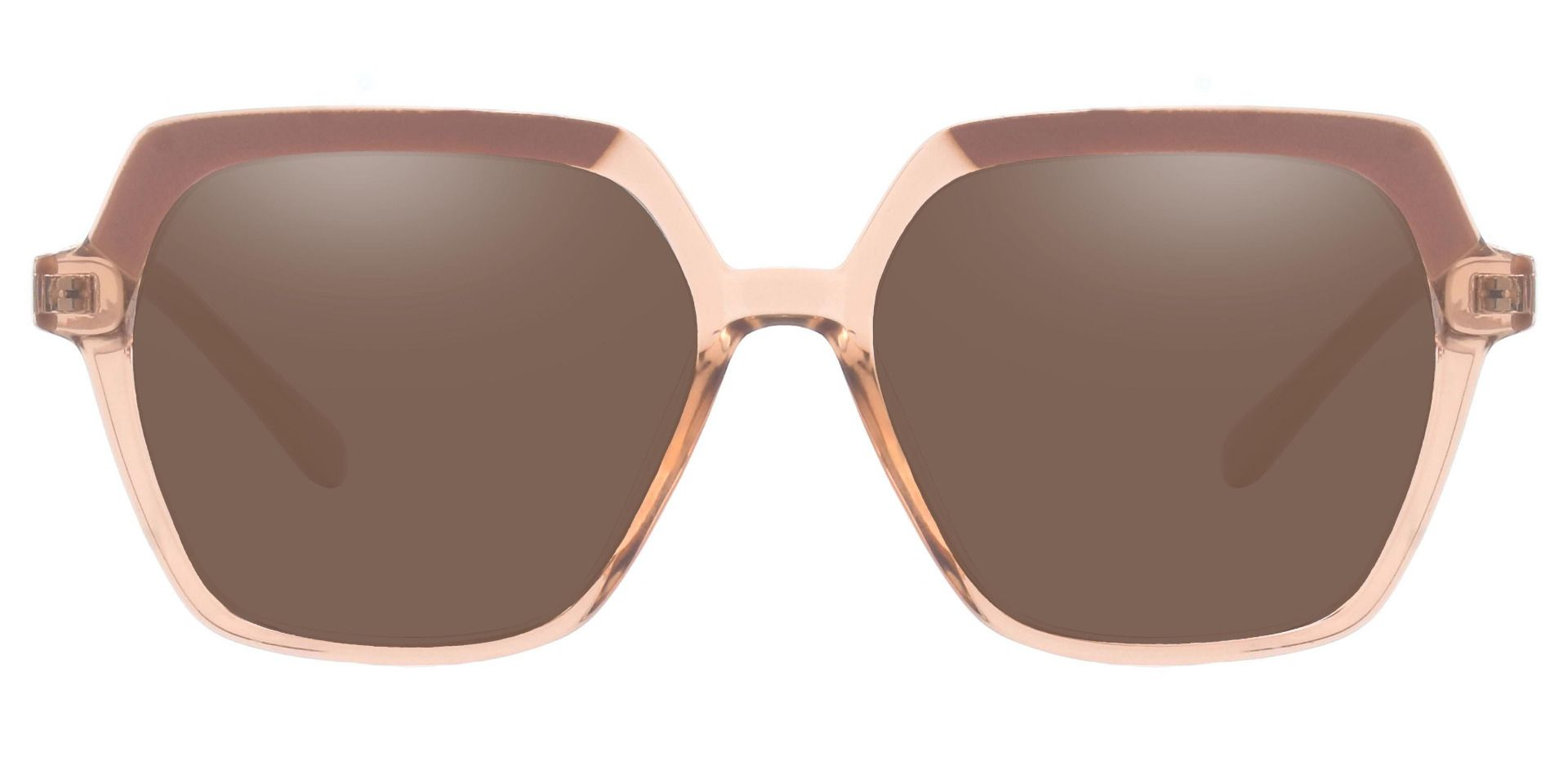 Regent Geometric Progressive Sunglasses - Brown Frame With Brown Lenses