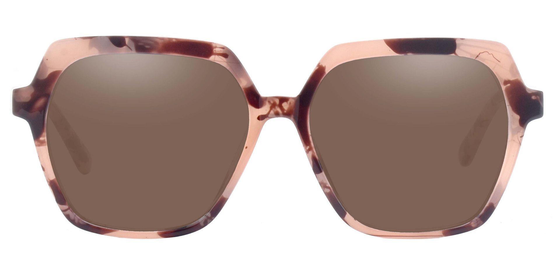 Regent Geometric Reading Sunglasses - Tortoise Frame With Brown Lenses
