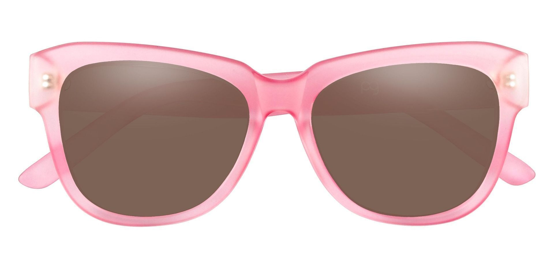 Gina Cat-Eye Lined Bifocal Sunglasses - Pink Frame With Brown Lenses