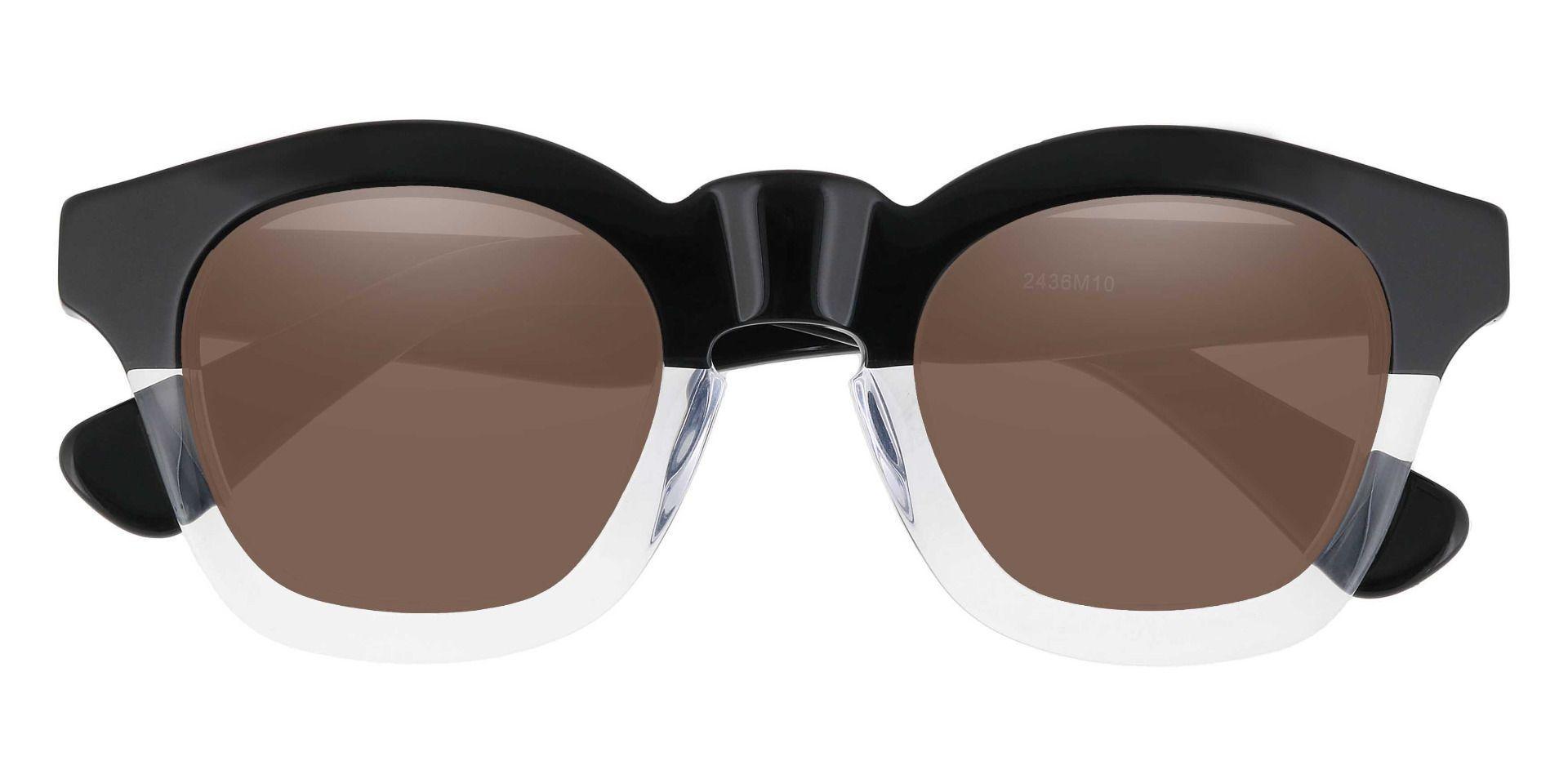 Bolton Square Prescription Sunglasses - Clear Frame With Brown Lenses