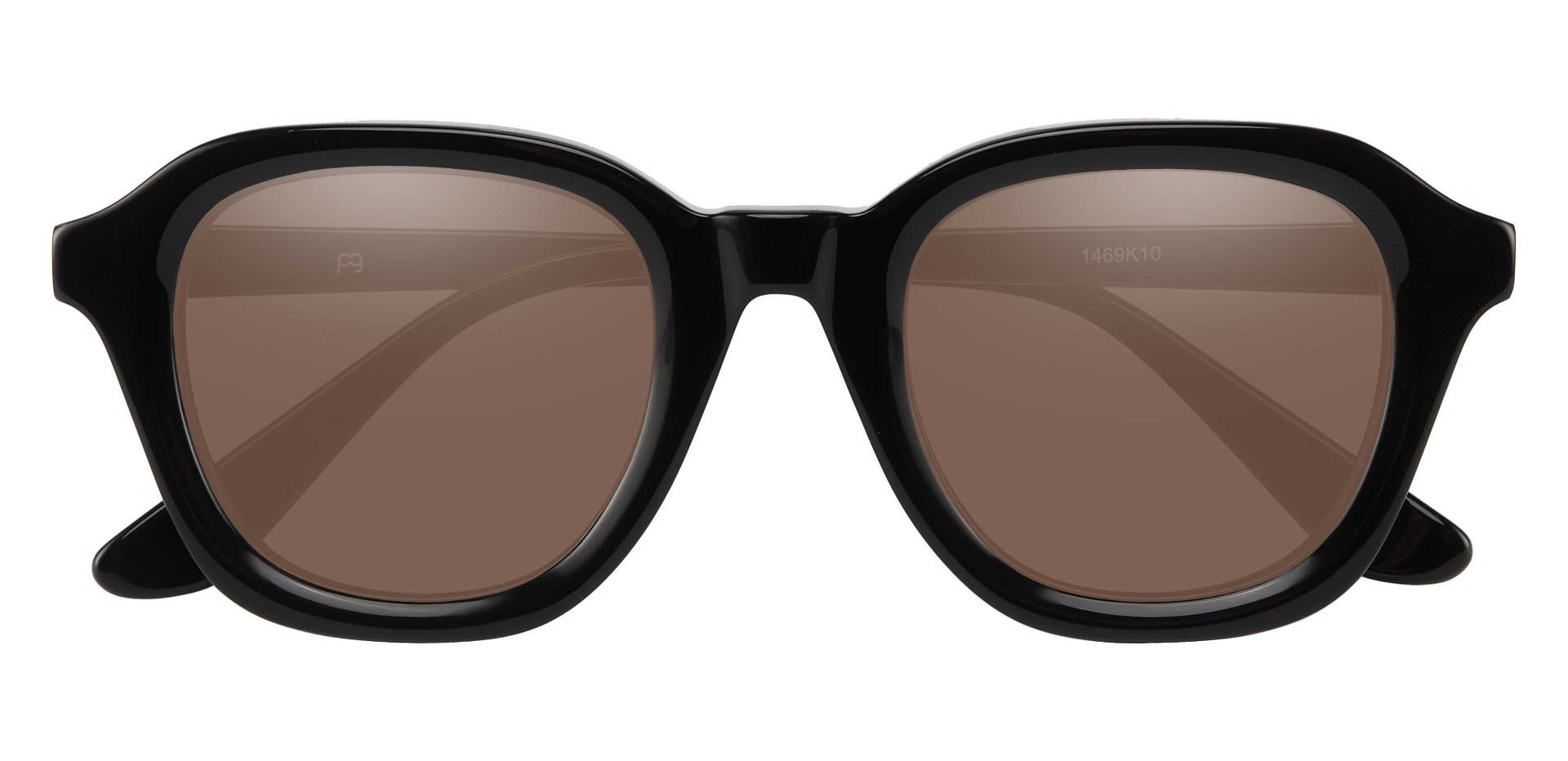 Grove Square Prescription Sunglasses - Black Frame With Brown Lenses