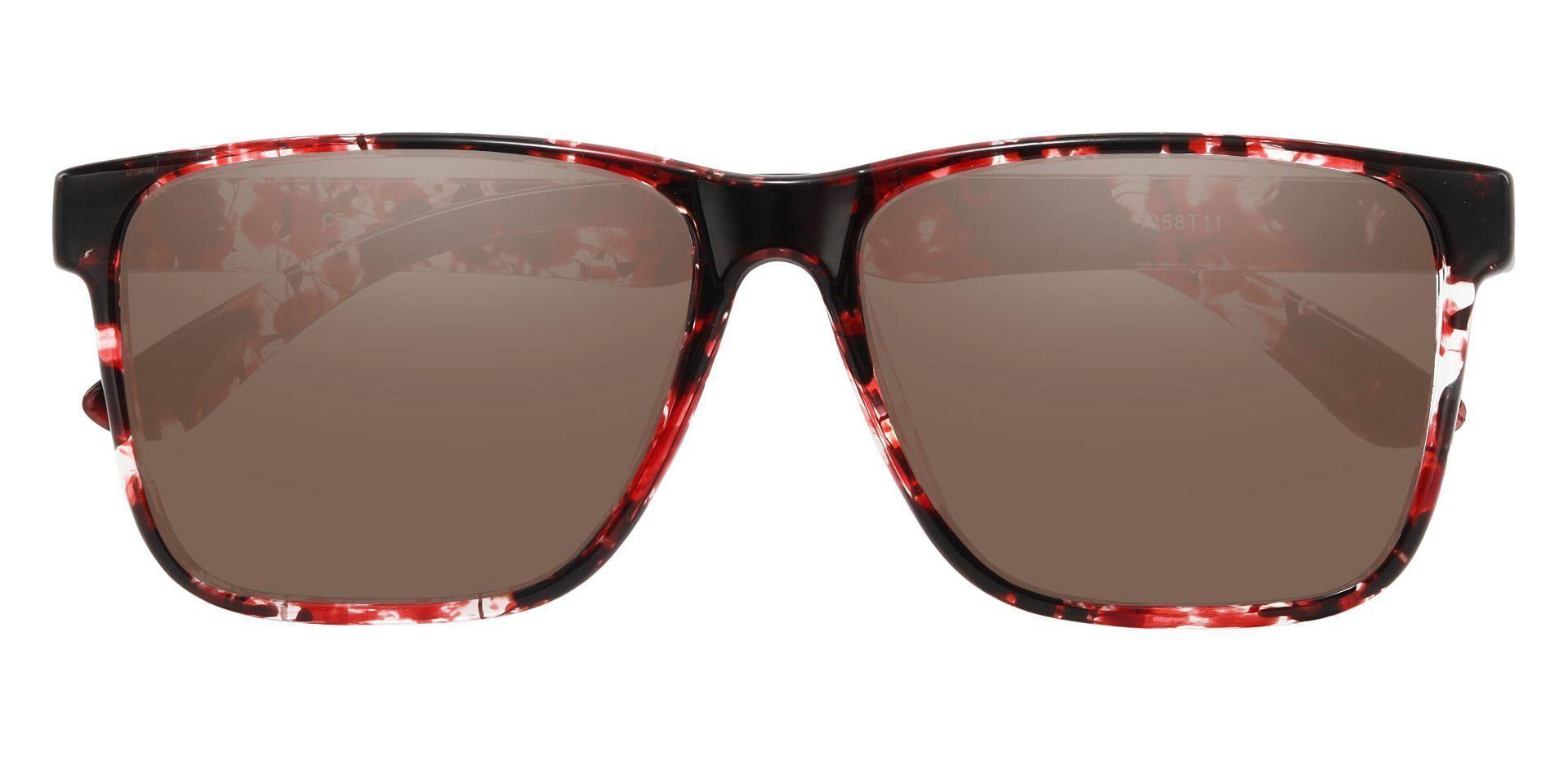 Barnum Square Prescription Sunglasses - Tortoise Frame With Brown Lenses