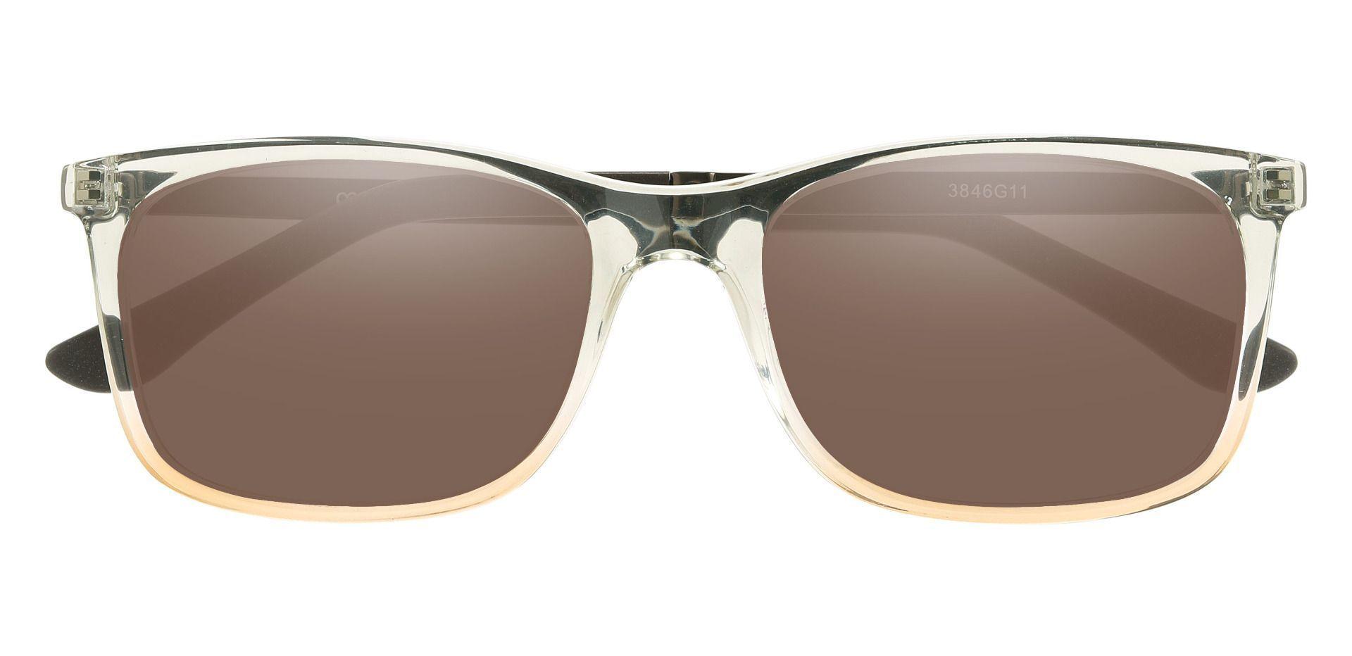 Kemper Rectangle Prescription Sunglasses - Gray Frame With Brown Lenses