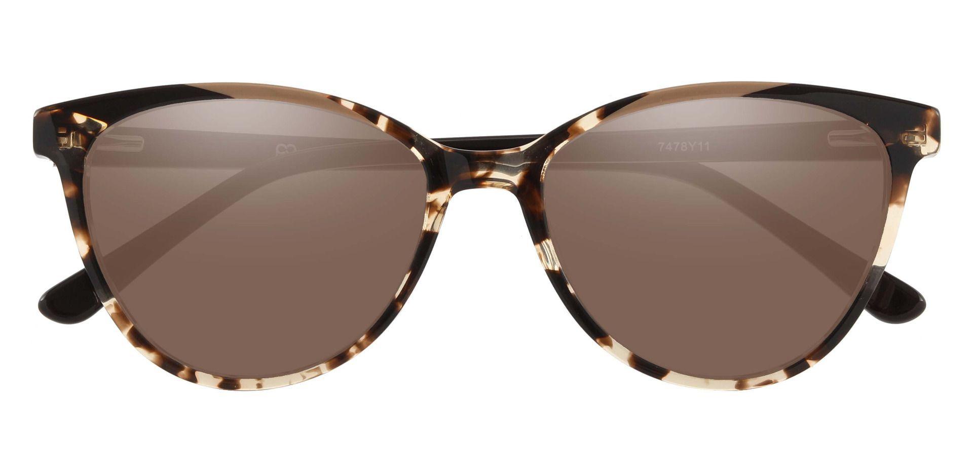 Ravenna Cat Eye Prescription Sunglasses - Multi Color Frame With Brown Lenses