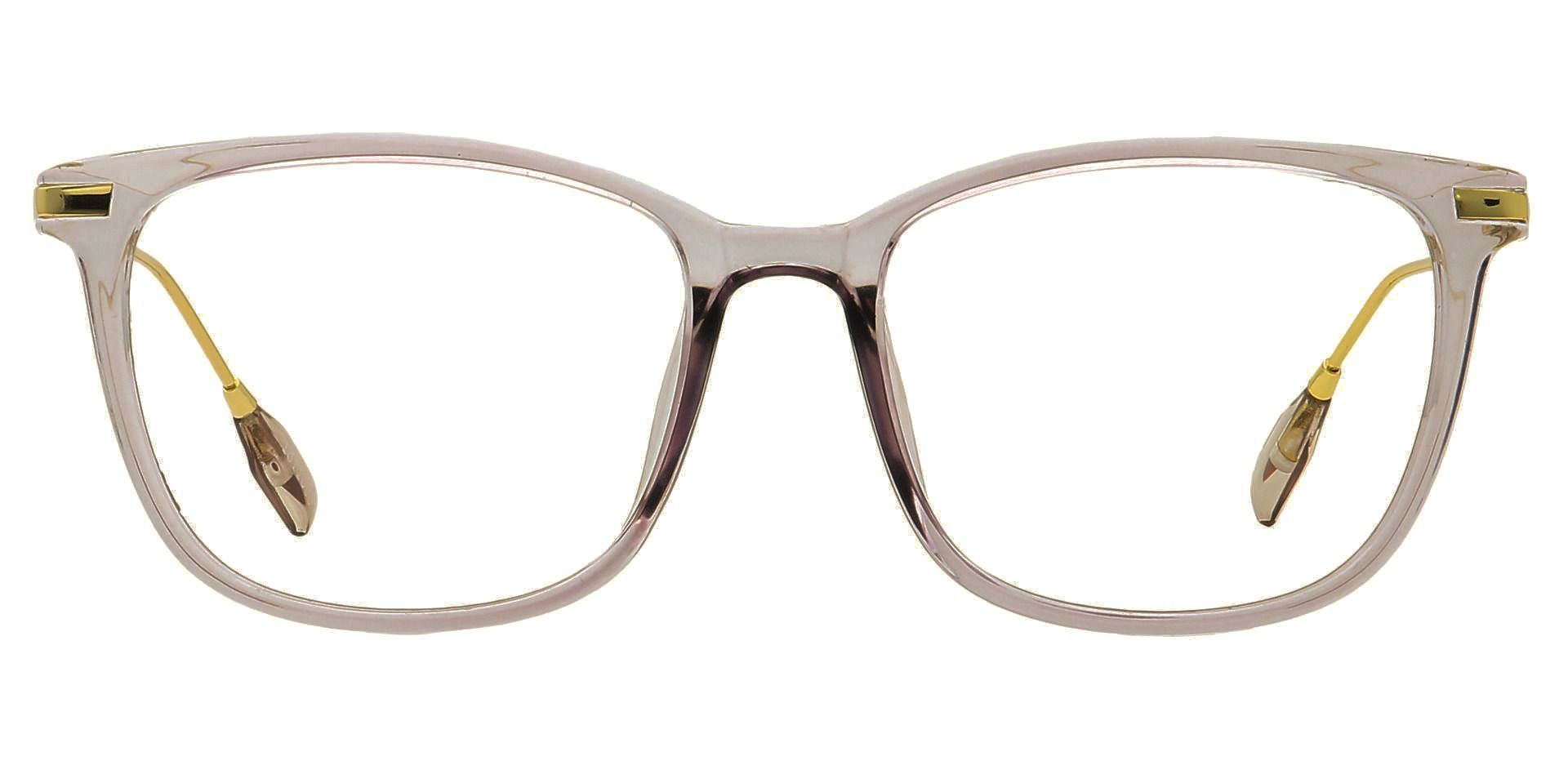 Katie Oval Blue Light Blocking Glasses - The Frame Is Clear With Light Purple