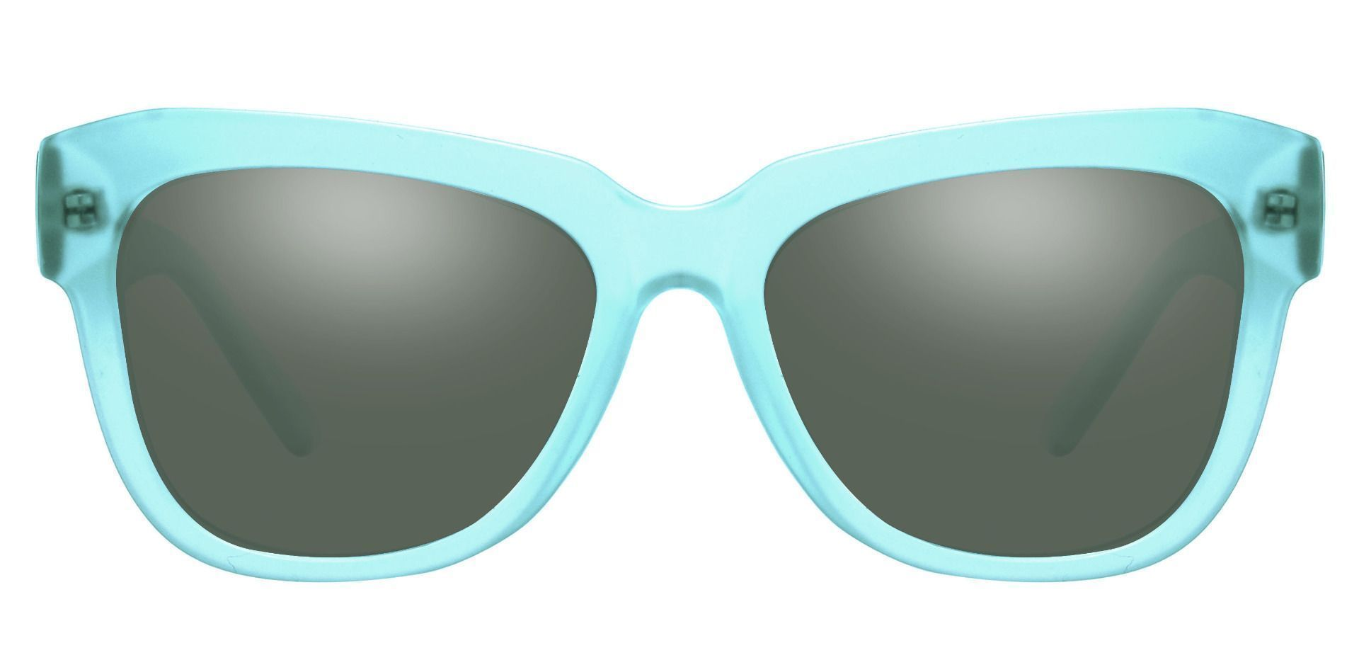 Gina Cat-Eye Reading Sunglasses - Blue Frame With Green Lenses