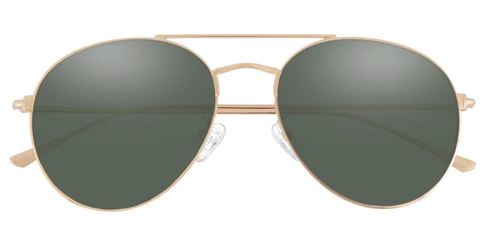 Canon Aviator Reading Sunglasses - Gold Frame With Green Lenses