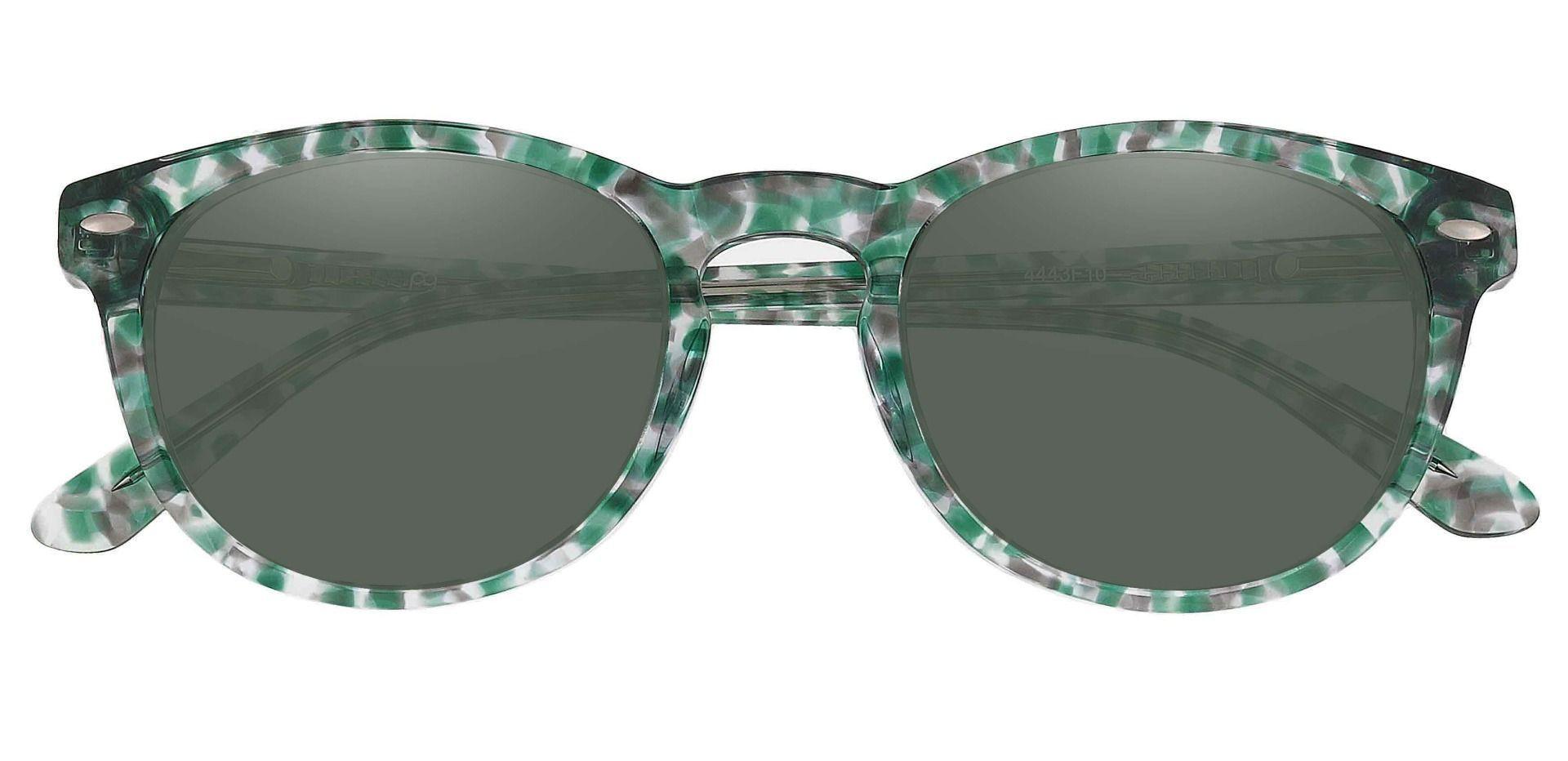 Laguna Oval Reading Sunglasses - Green Frame With Green Lenses
