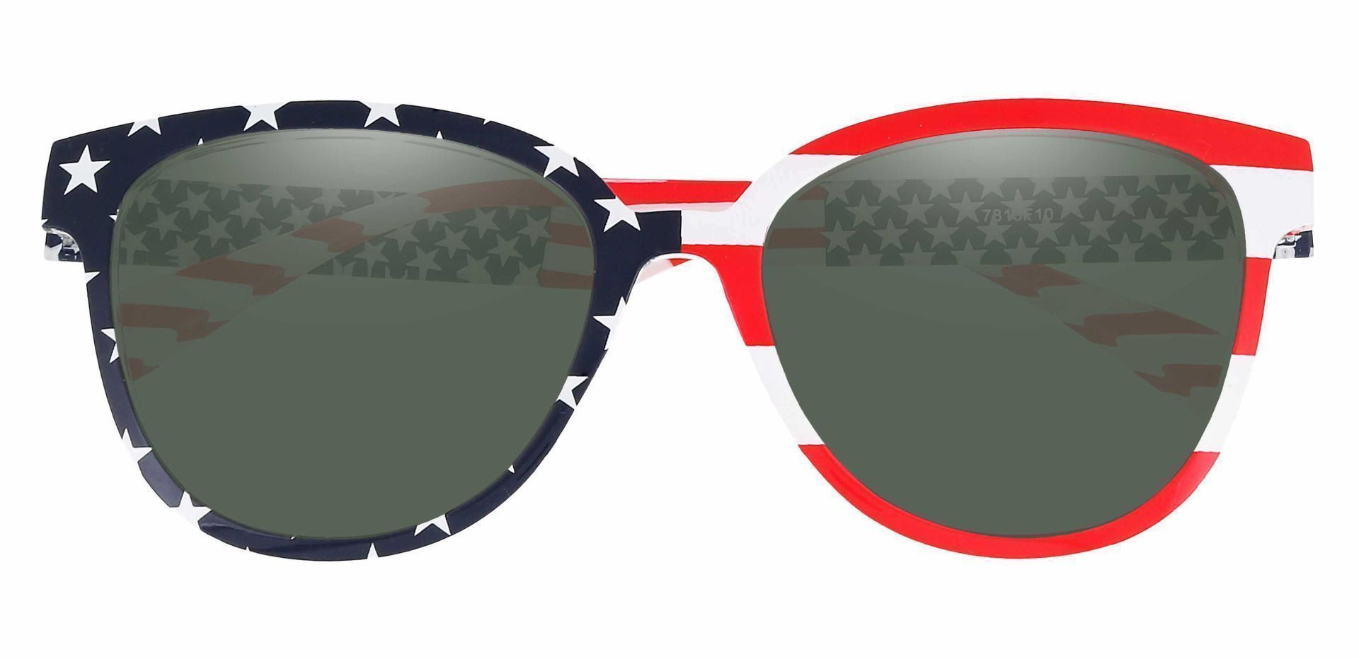Union Square Lined Bifocal Sunglasses - Floral Frame With Green Lenses