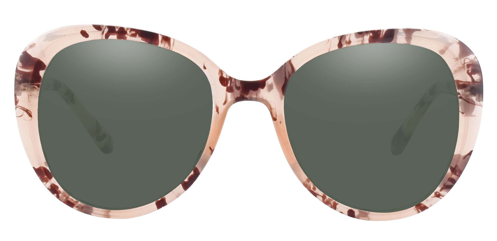 Sheridan Oval Reading Sunglasses - Floral Frame With Green Lenses