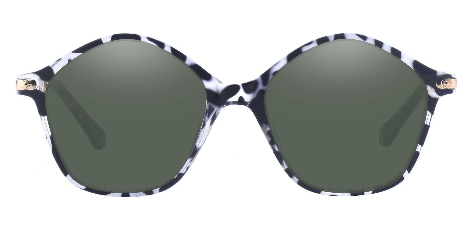 Boulder Geometric Prescription Sunglasses - Tortoise Frame With Green Lenses