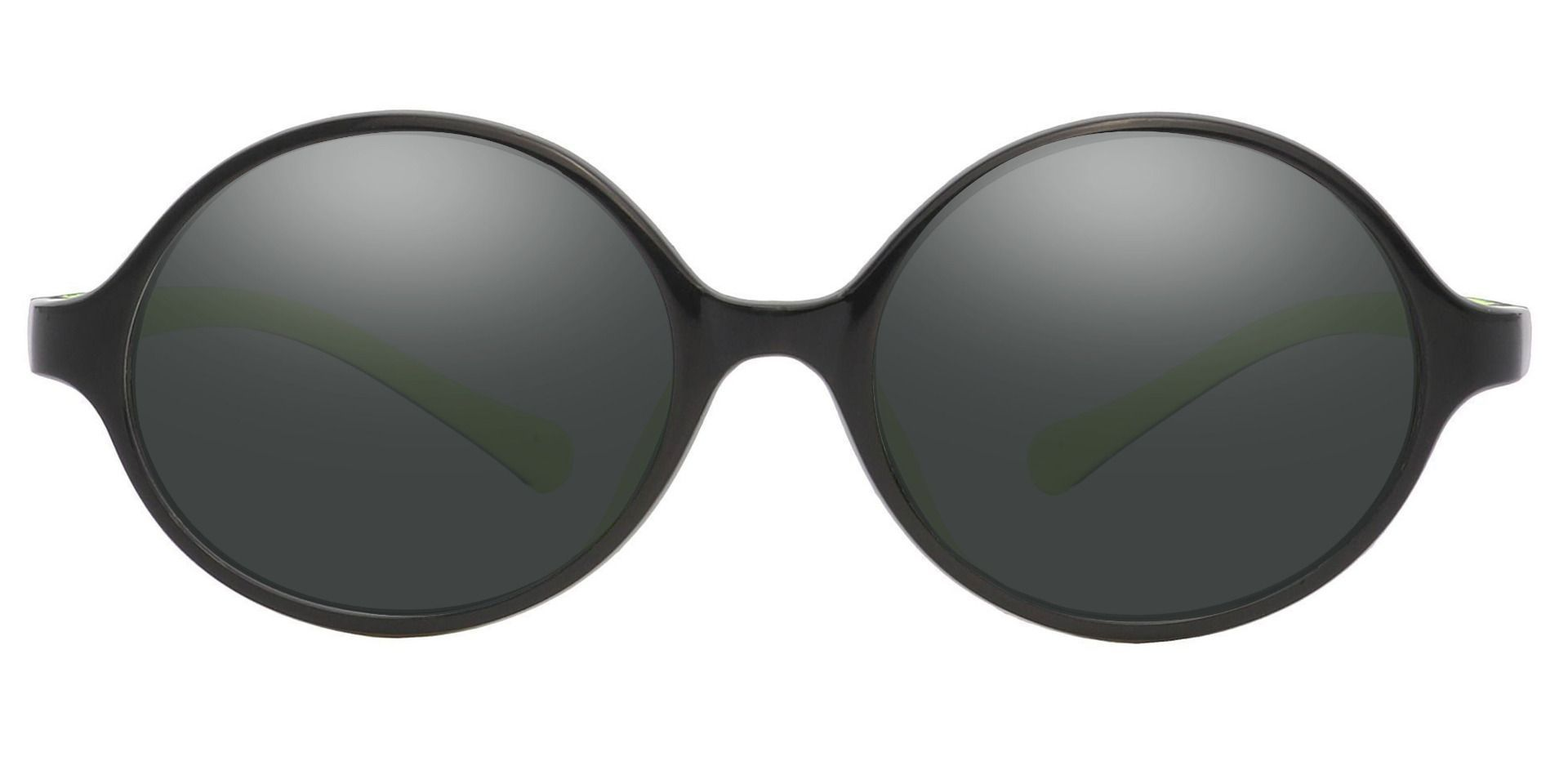 Dagwood Round Prescription Sunglasses - Black Frame With Gray Lenses