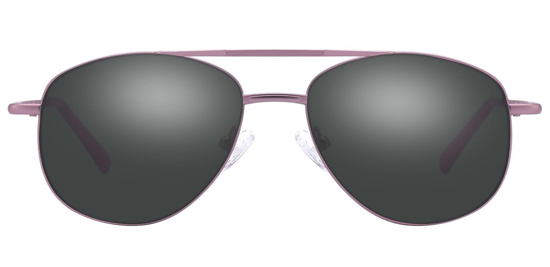 Dwight Aviator Single Vision Sunglasses - Pink Frame With Gray Lenses