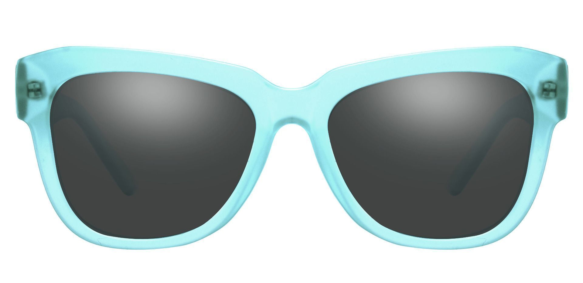 Gina Cat-Eye Reading Sunglasses - Blue Frame With Gray Lenses