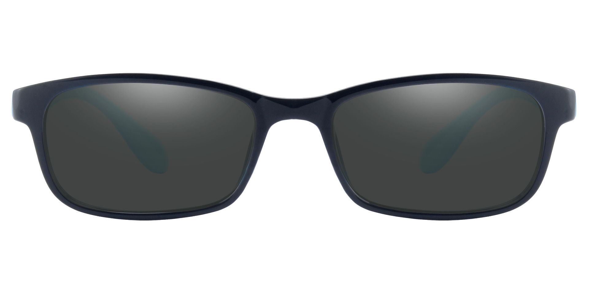 Amos Rectangle Prescription Sunglasses -  Black Frame With Gray Lenses