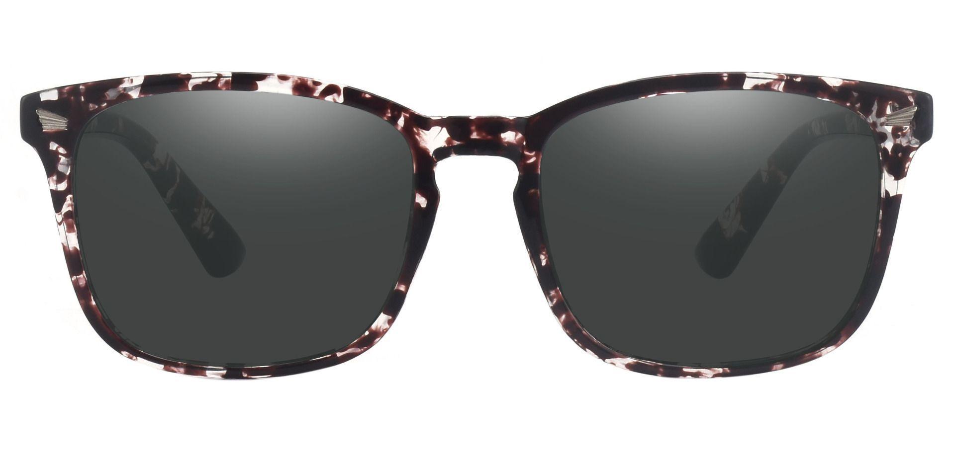 Rogan Square Prescription Sunglasses - Multi Color Frame With Gray Lenses