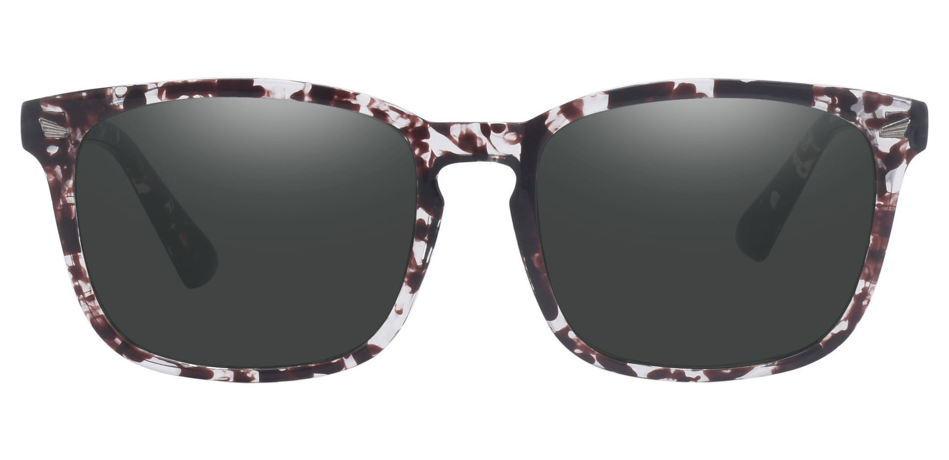 Zen Square Prescription Sunglasses - Multi Color Frame With Gray Lenses