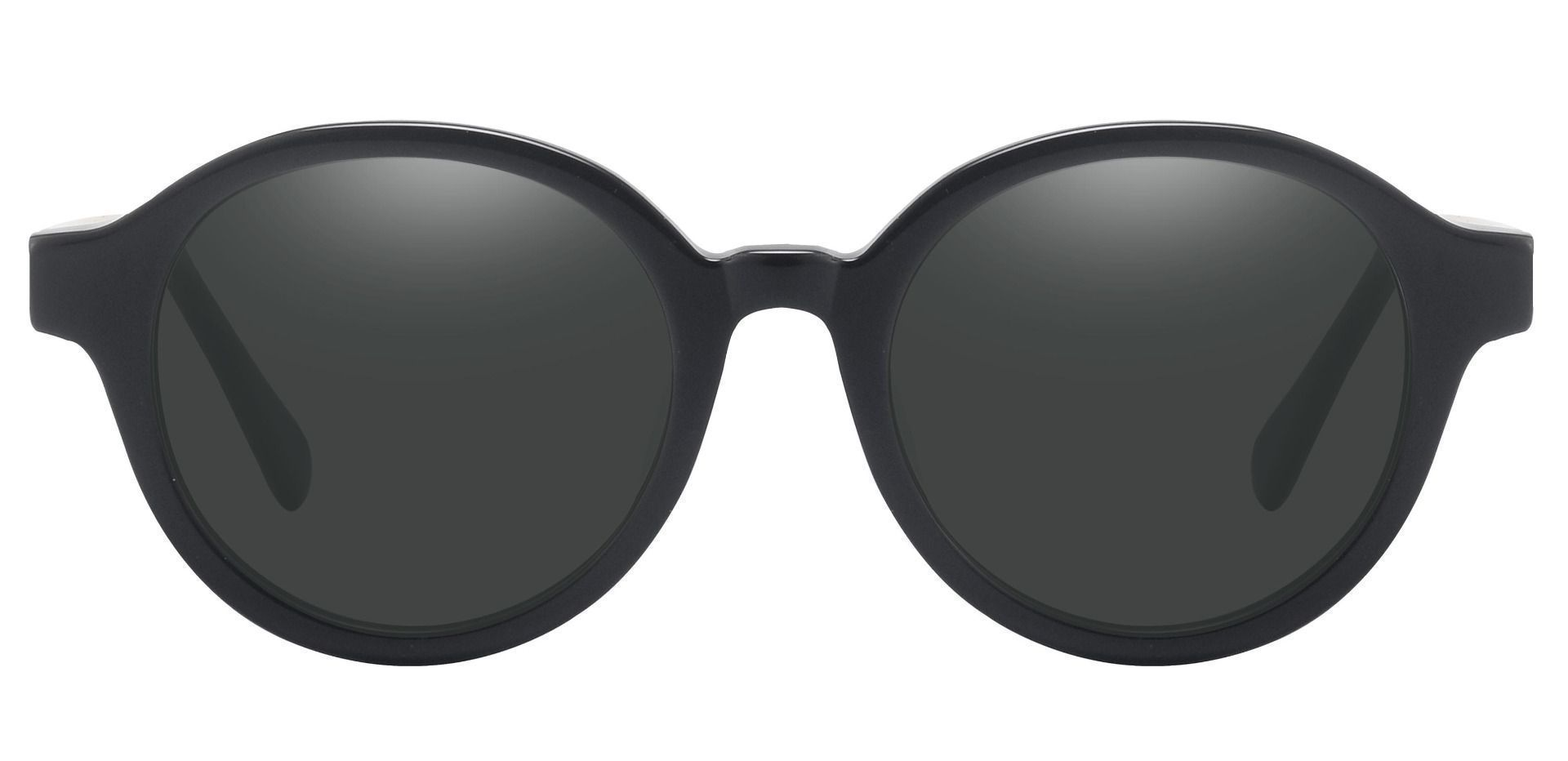 Steel City Round Reading Sunglasses - Black Frame With Gray Lenses