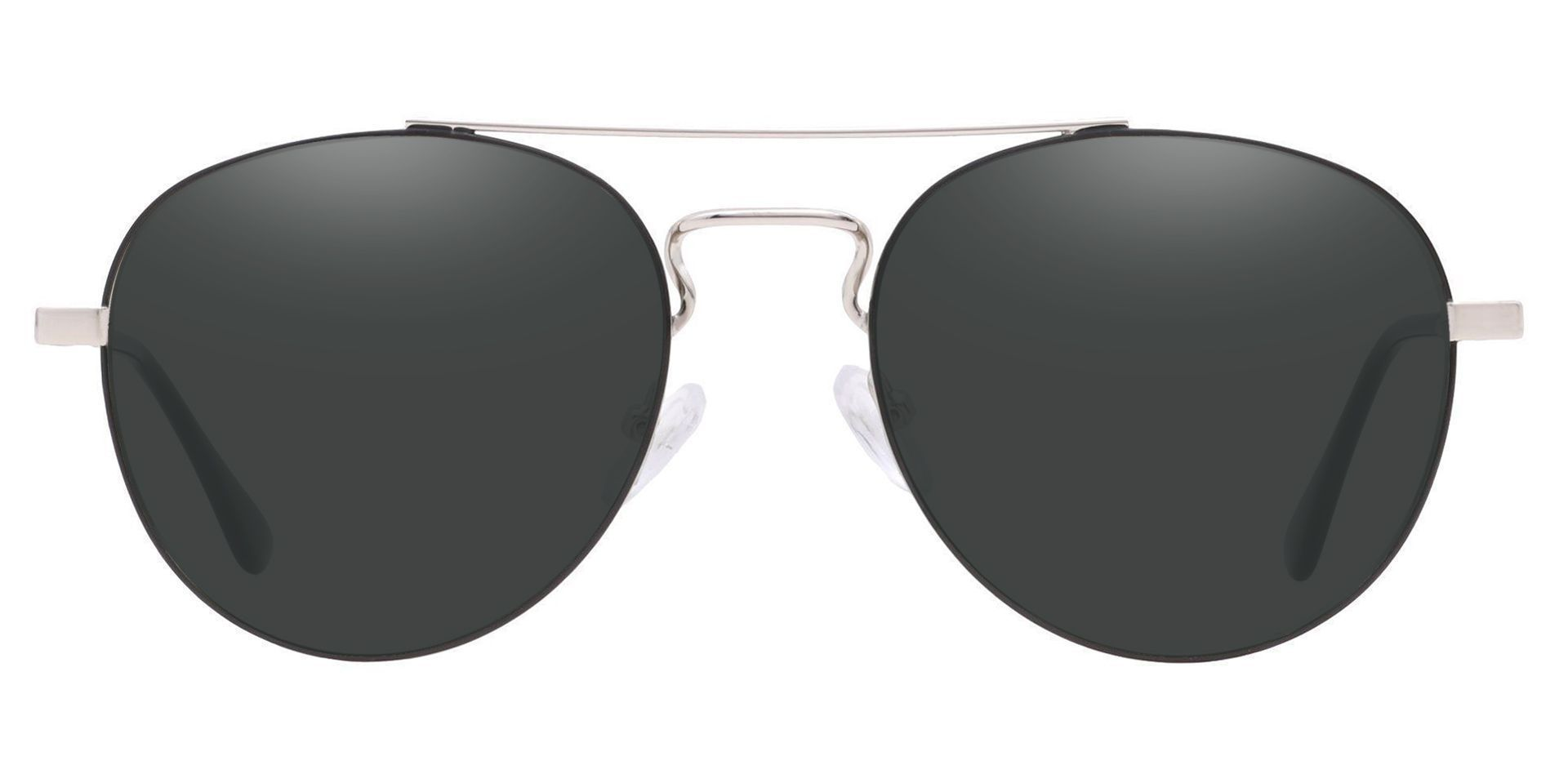 Trapp Aviator Single Vision Sunglasses - Gray Frame With Gray Lenses