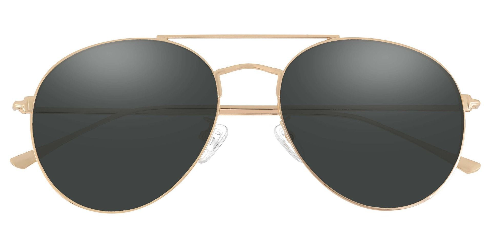 Canon Aviator Single Vision Sunglasses - Gold Frame With Gray Lenses