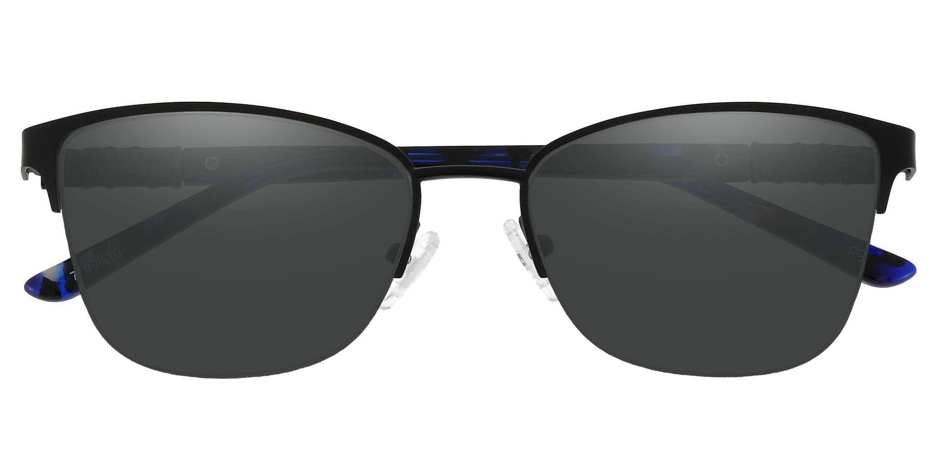 Ballad Cat Eye Progressive Sunglasses - Black Frame With Gray Lenses