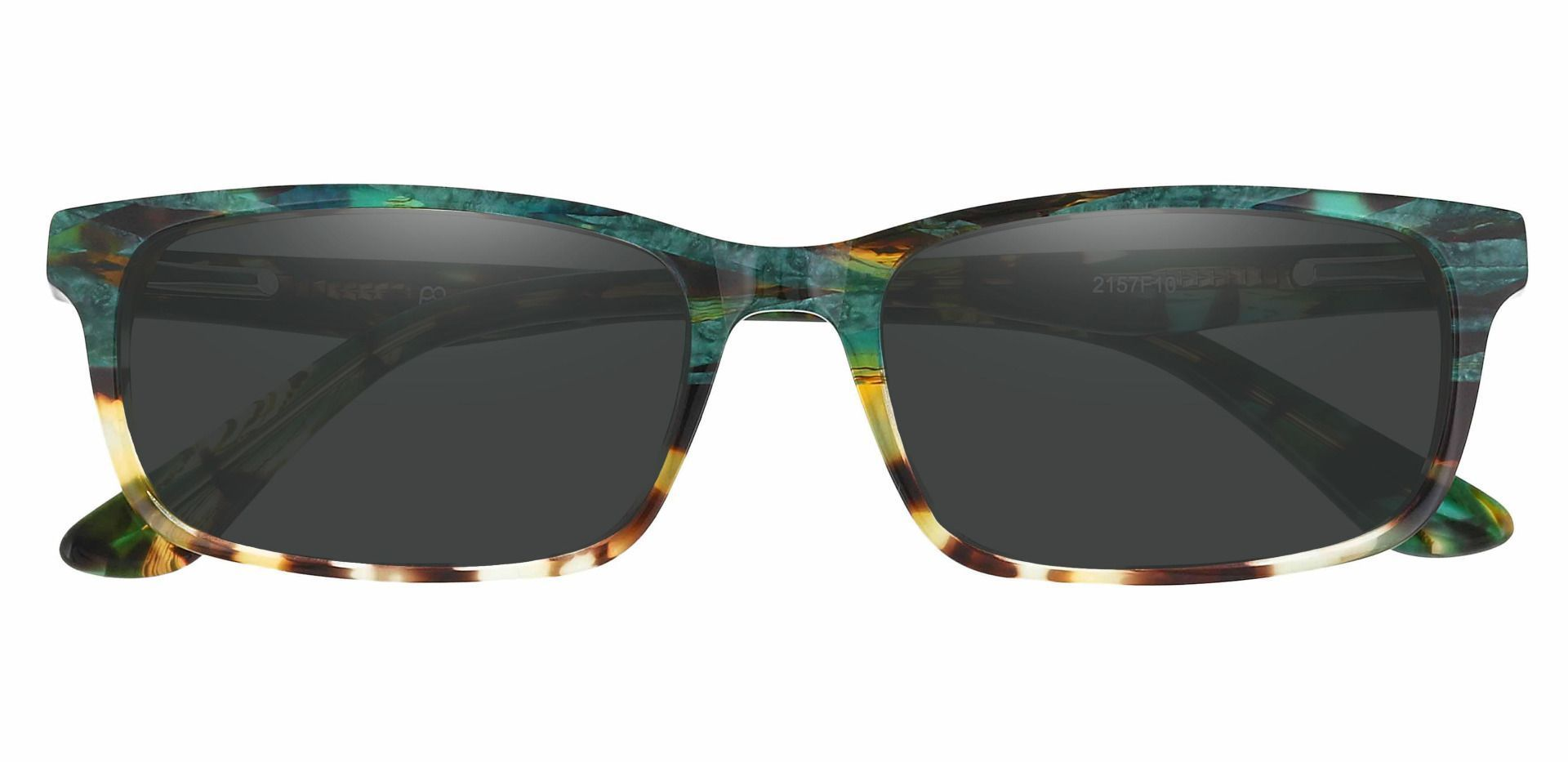 Ennis Rectangle Reading Sunglasses - Floral Frame With Gray Lenses