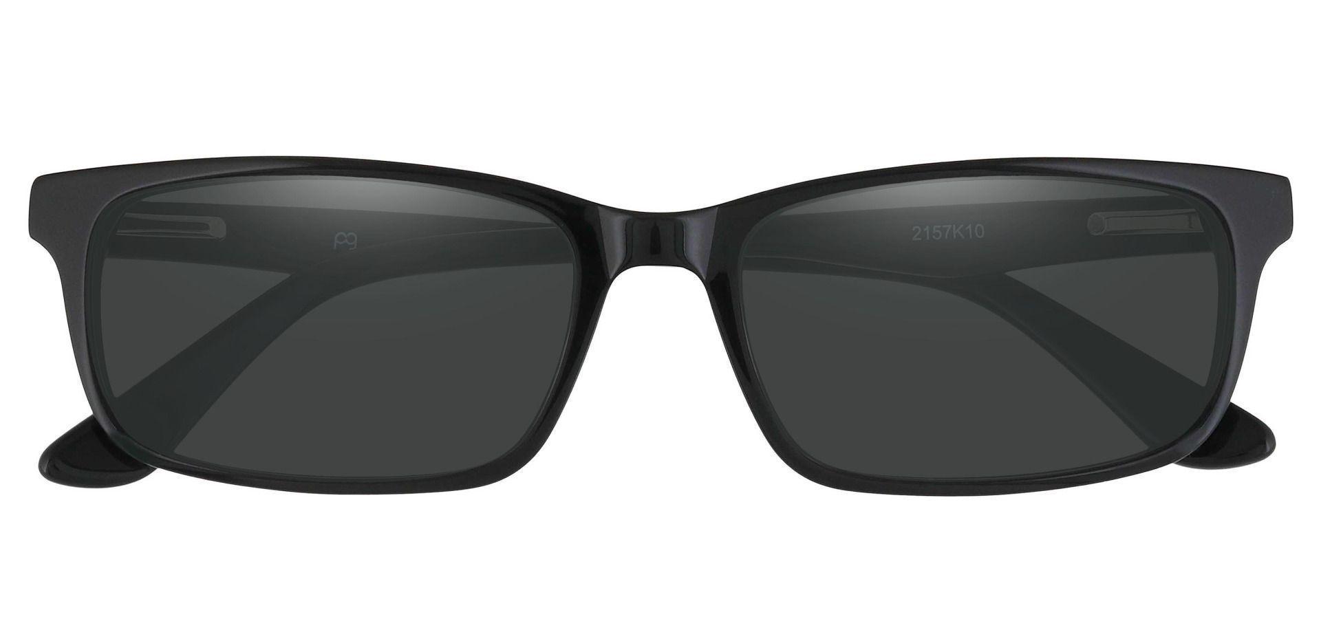 Hendrix Rectangle Reading Sunglasses - Black Frame With Gray Lenses