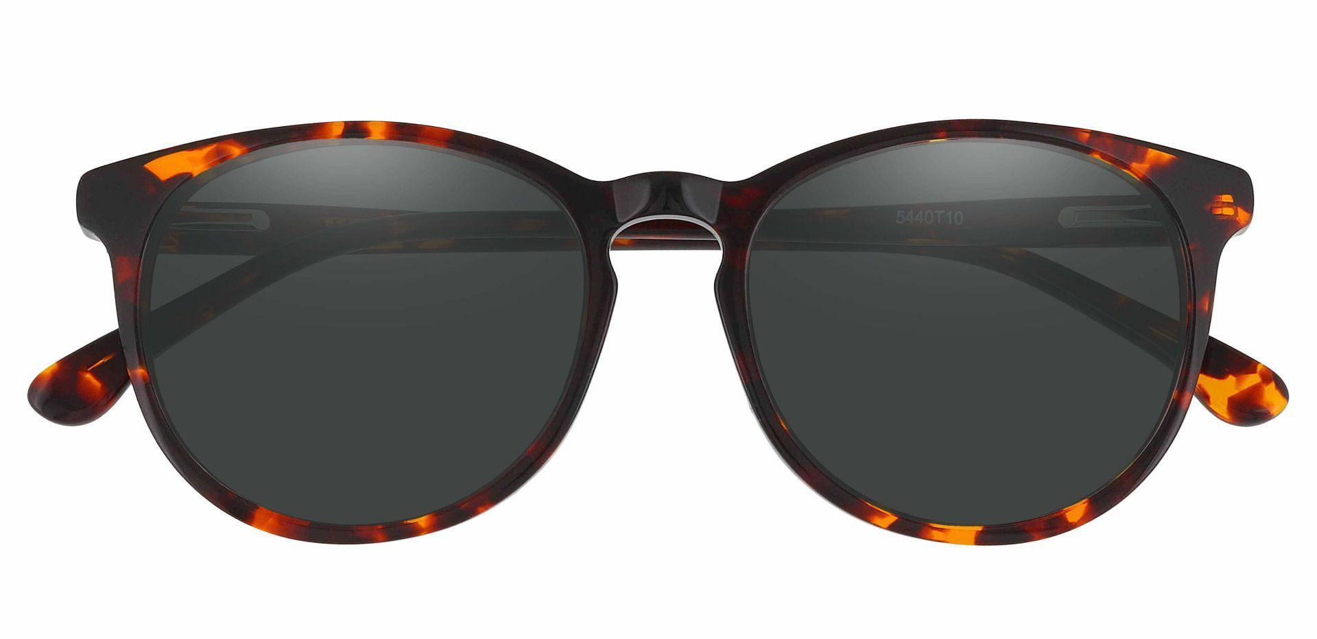Carriage Round Lined Bifocal Sunglasses - Tortoise Frame With Gray Lenses