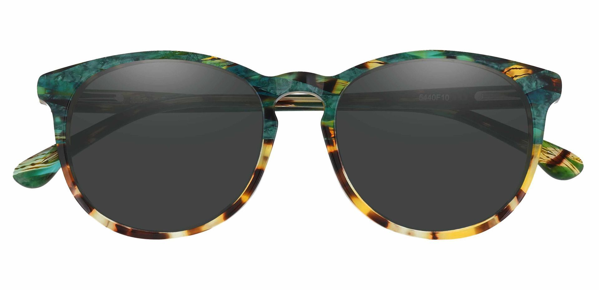 Carriage Round Reading Sunglasses - Multi Color Frame With Gray Lenses