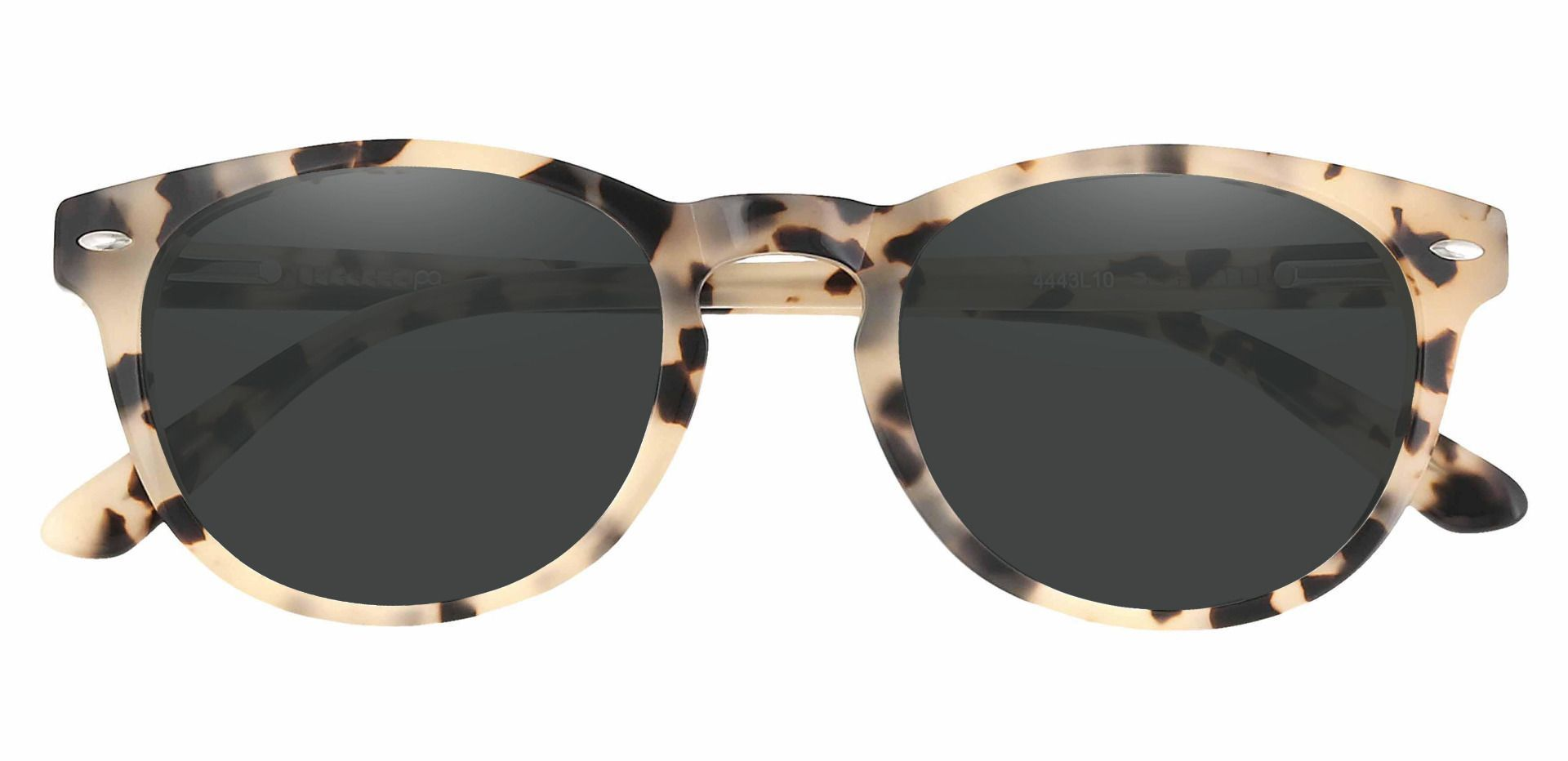Laguna Oval Lined Bifocal Sunglasses - Leopard Frame With Gray Lenses