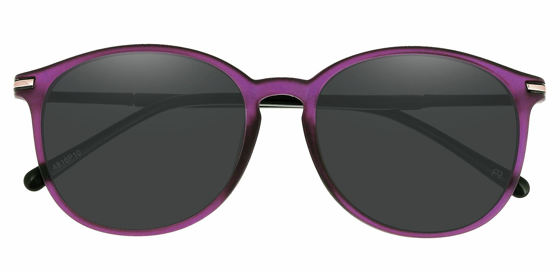 Danbury Oval Prescription Sunglasses - Purple Frame With Gray Lenses