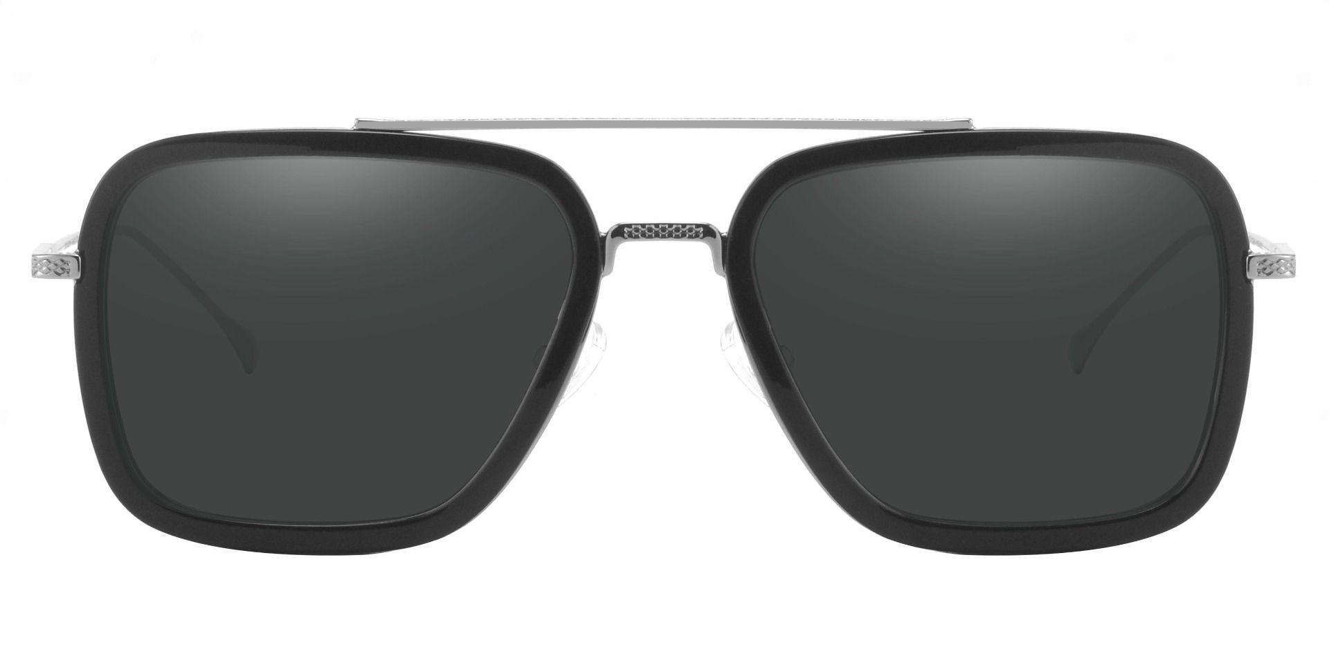 Cruz Aviator Lined Bifocal Sunglasses - Black Frame With Gray Lenses