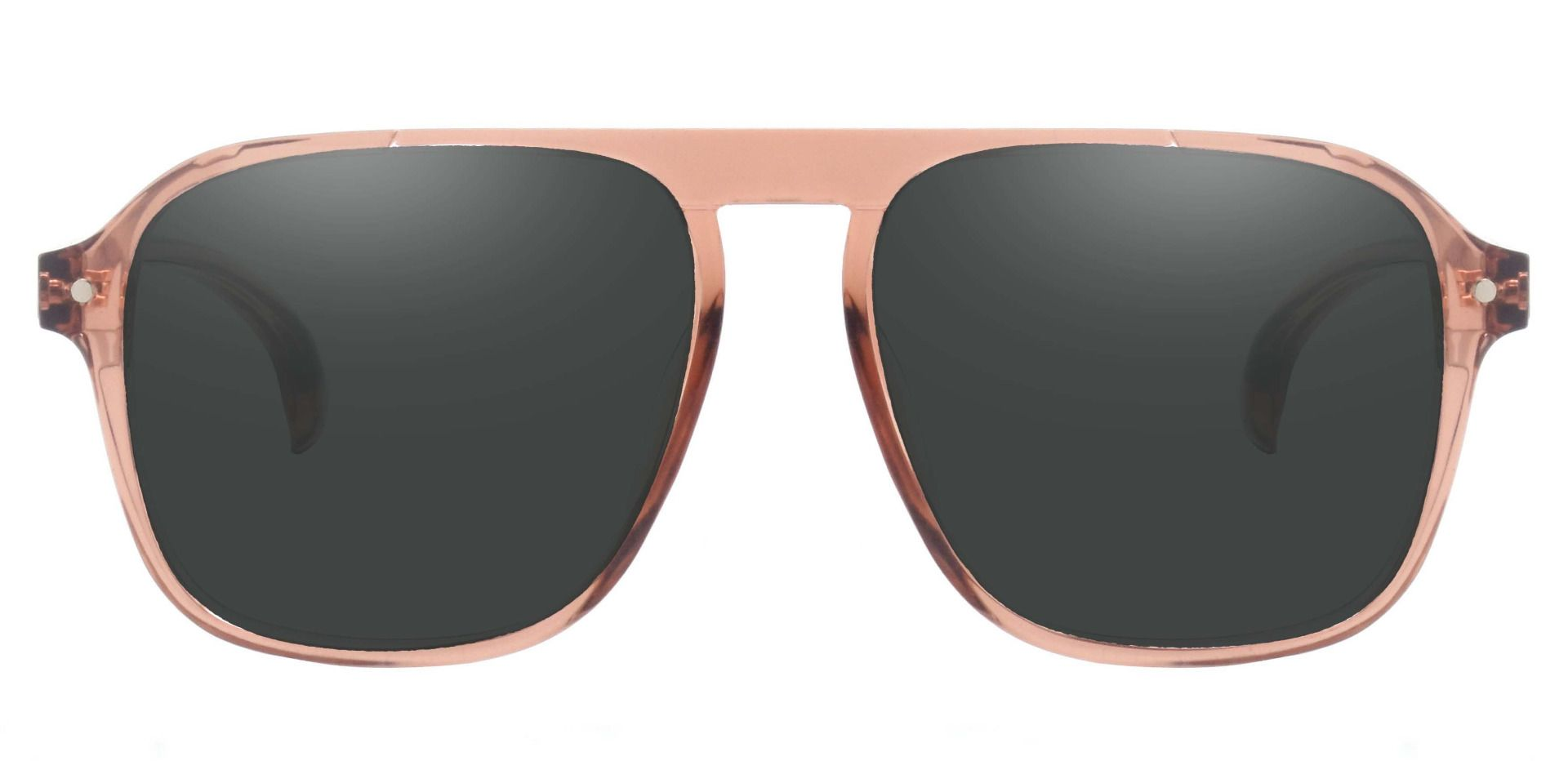 Gideon Aviator Prescription Sunglasses - Brown Frame With Gray Lenses