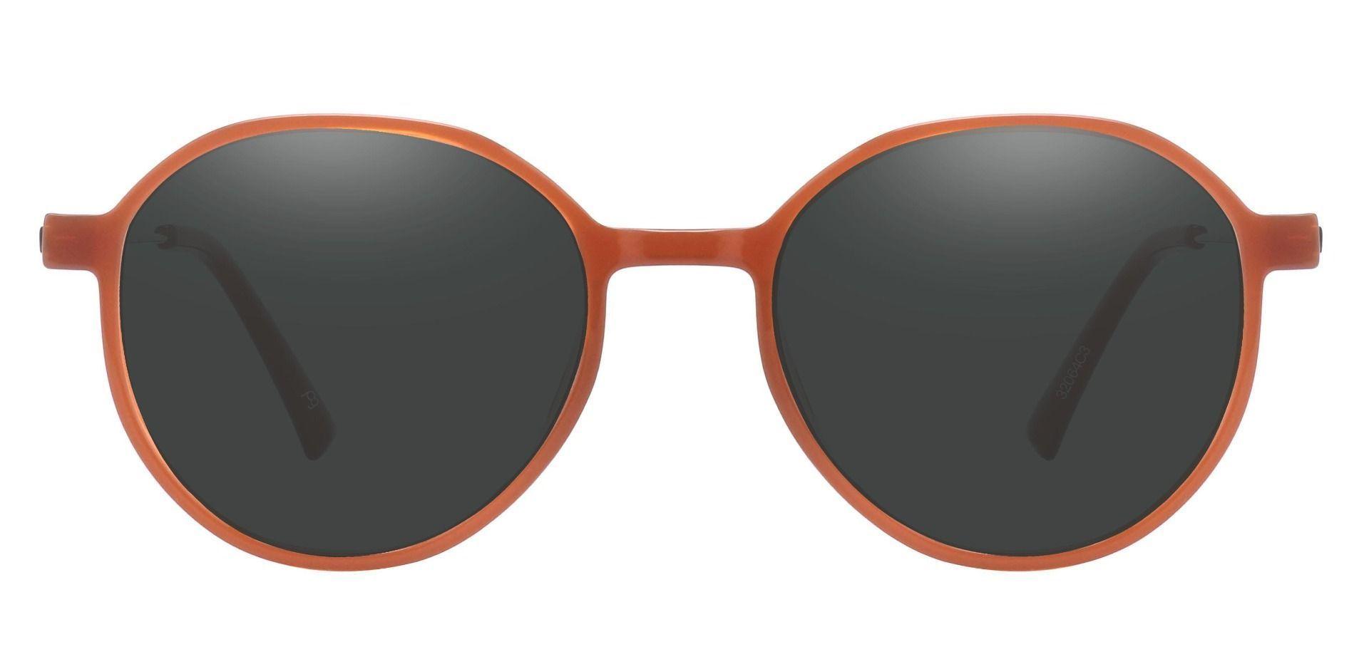 Daytona Geometric Non-Rx Sunglasses - Brown Frame With Gray Lenses