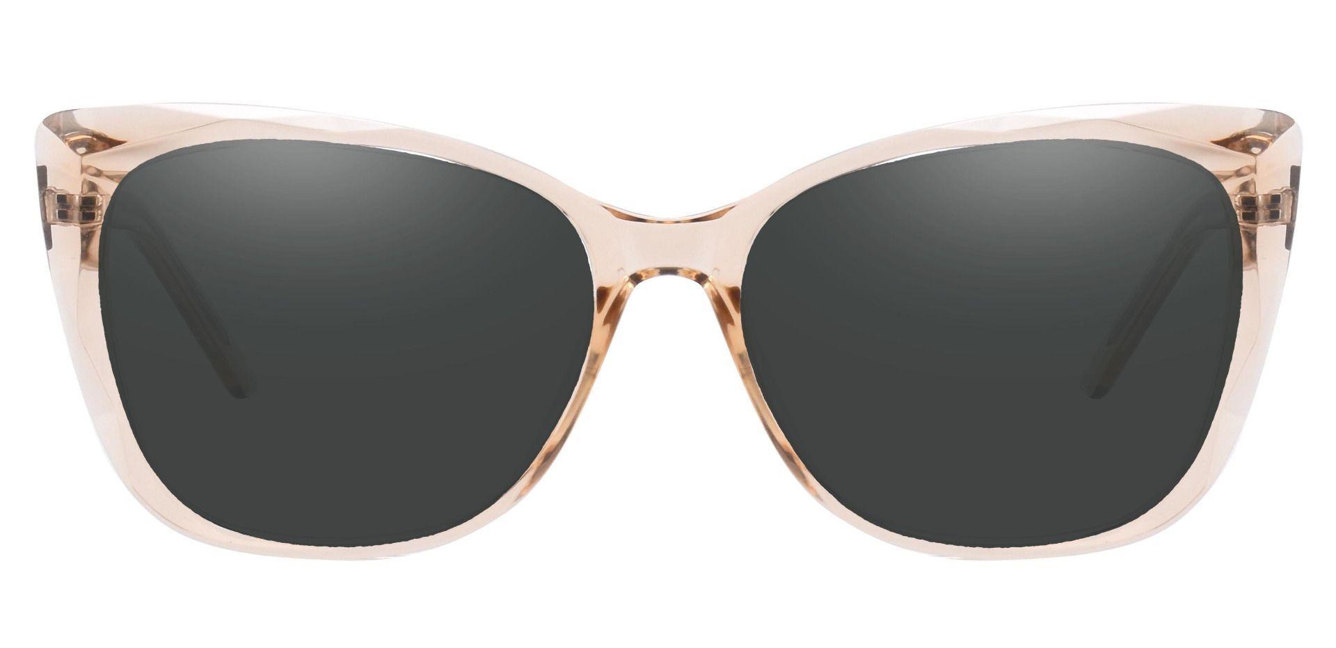 Mabel Square Progressive Sunglasses - Brown Frame With Gray Lenses