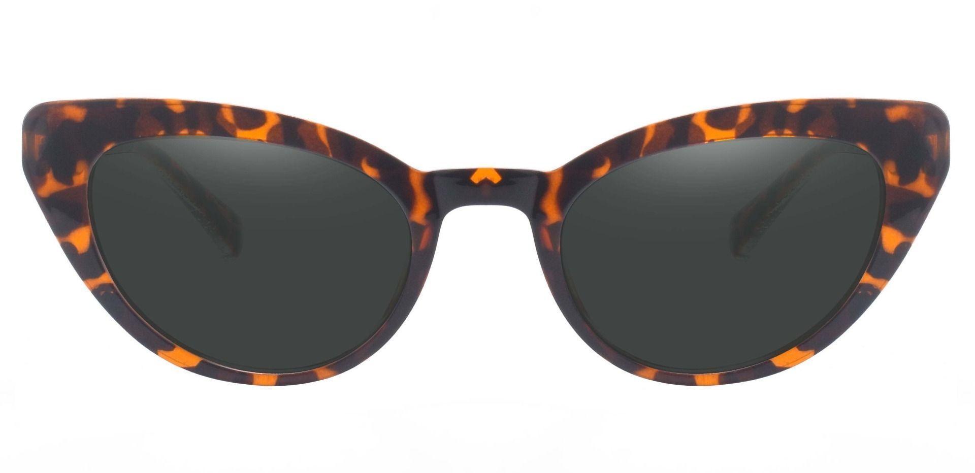 June Cat Eye Reading Sunglasses - Leopard Frame With Gray Lenses