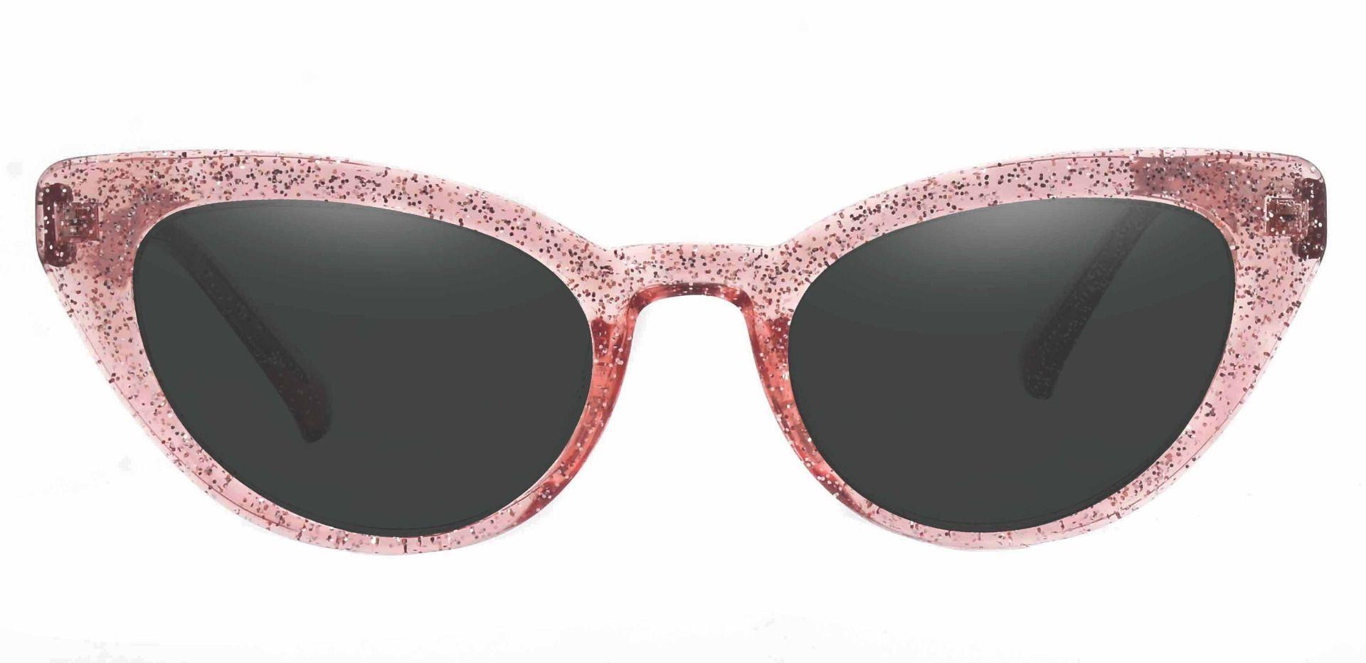 June Cat Eye Reading Sunglasses - Pink Frame With Gray Lenses