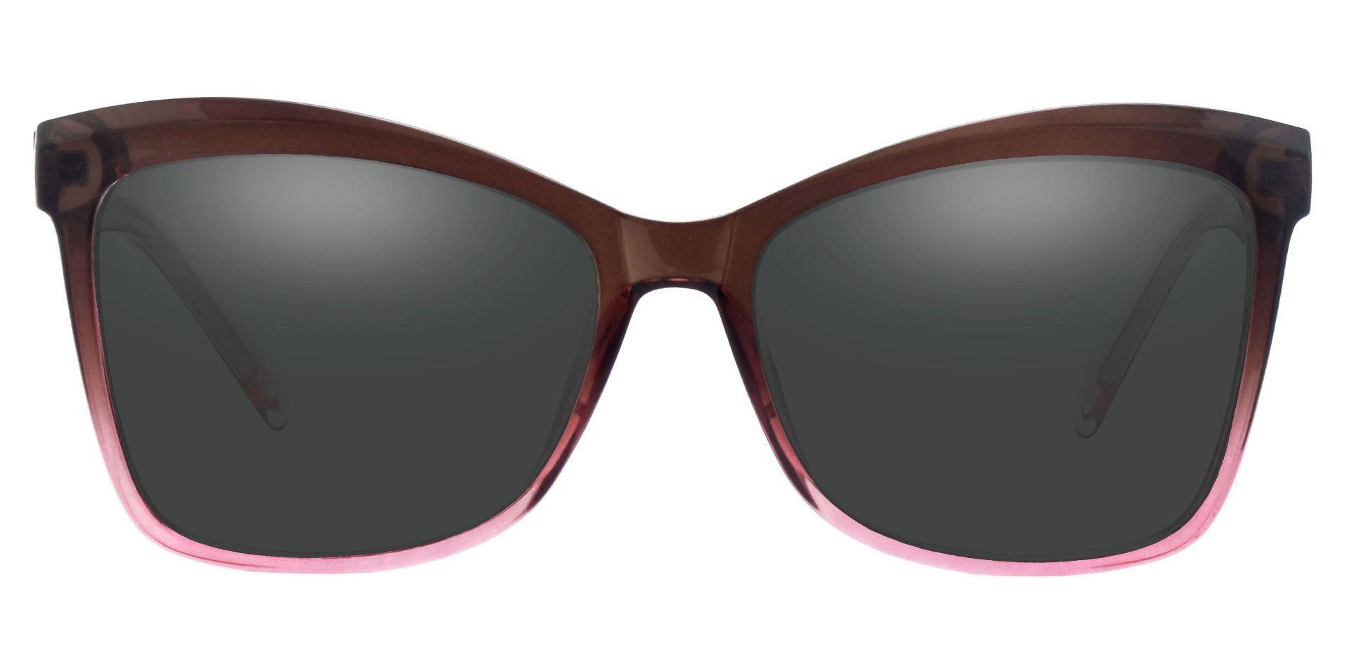 Lexi Cat Eye Prescription Sunglasses - Brown Frame With Gray Lenses