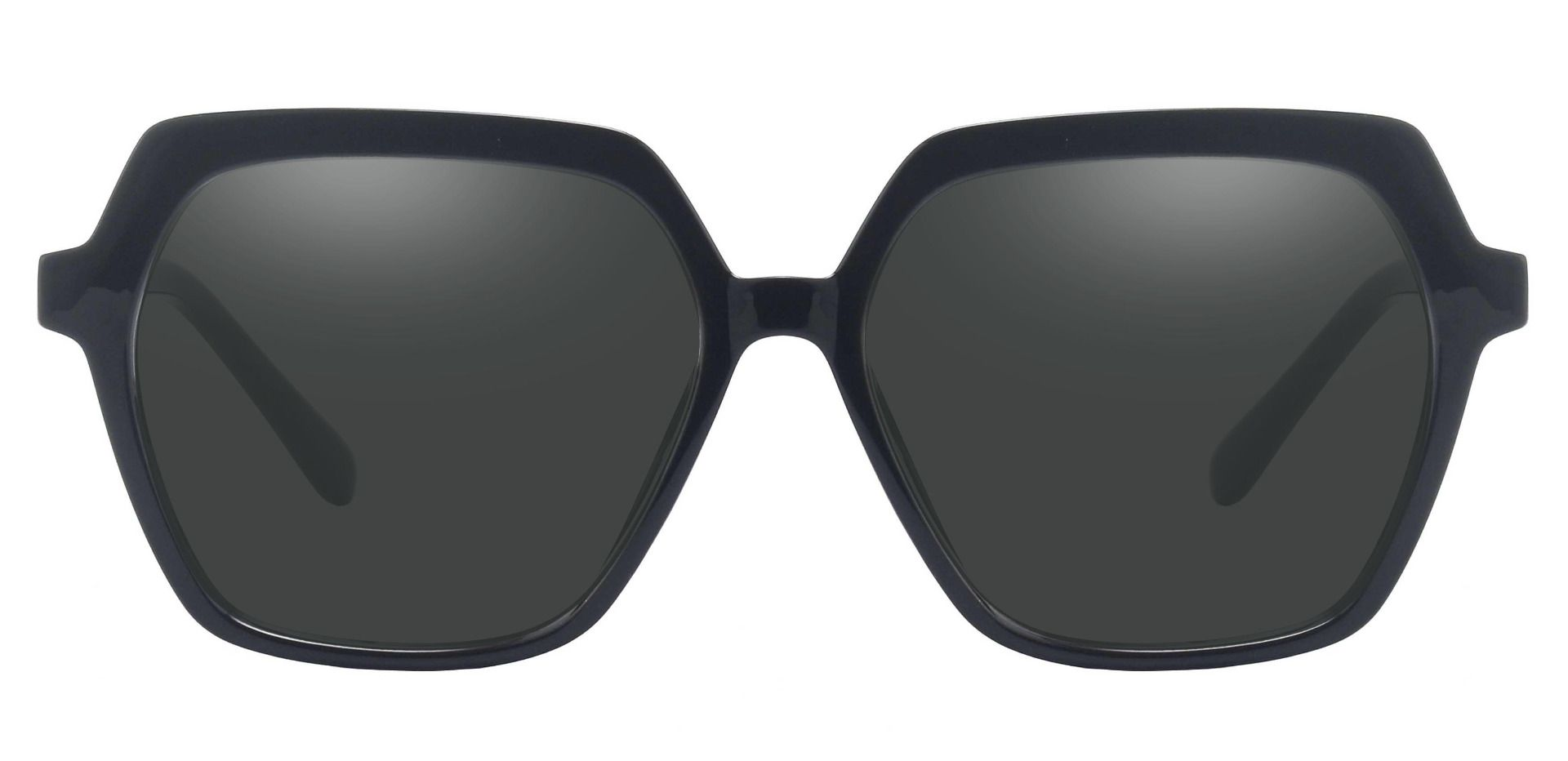 Regent Geometric Lined Bifocal Sunglasses - Black Frame With Gray Lenses