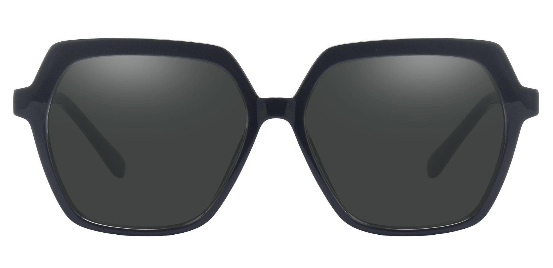 Regent Geometric Reading Sunglasses - Black Frame With Gray Lenses