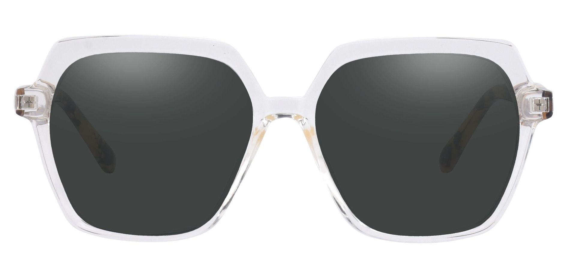 Regent Geometric Lined Bifocal Sunglasses - Clear Frame With Gray Lenses