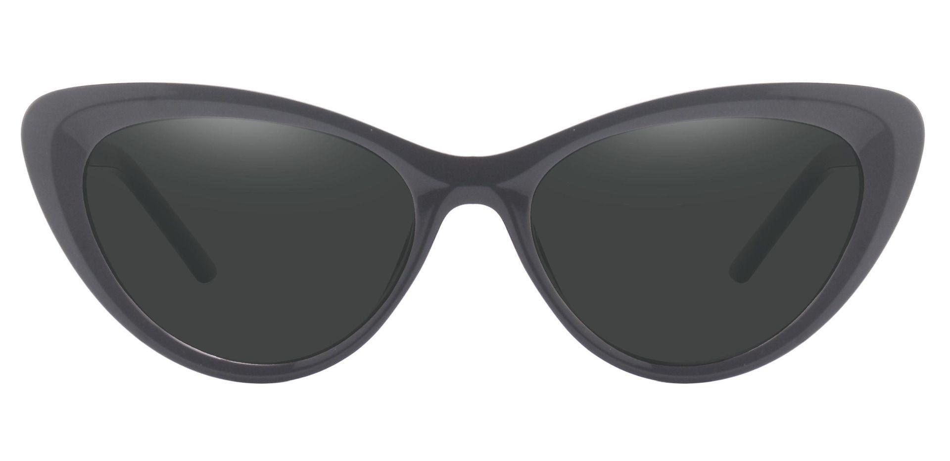 Gemini Cat Eye Prescription Sunglasses - Black Frame With Gray Lenses