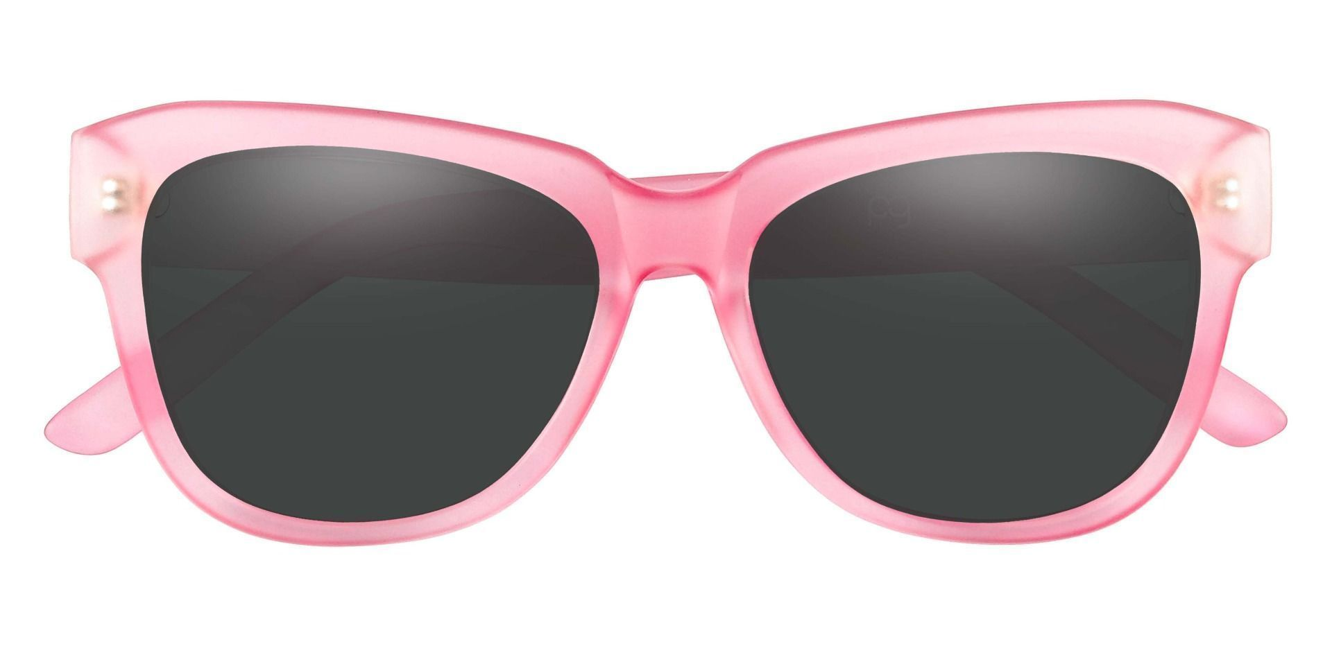 Gina Cat-Eye Progressive Sunglasses - Pink Frame With Gray Lenses