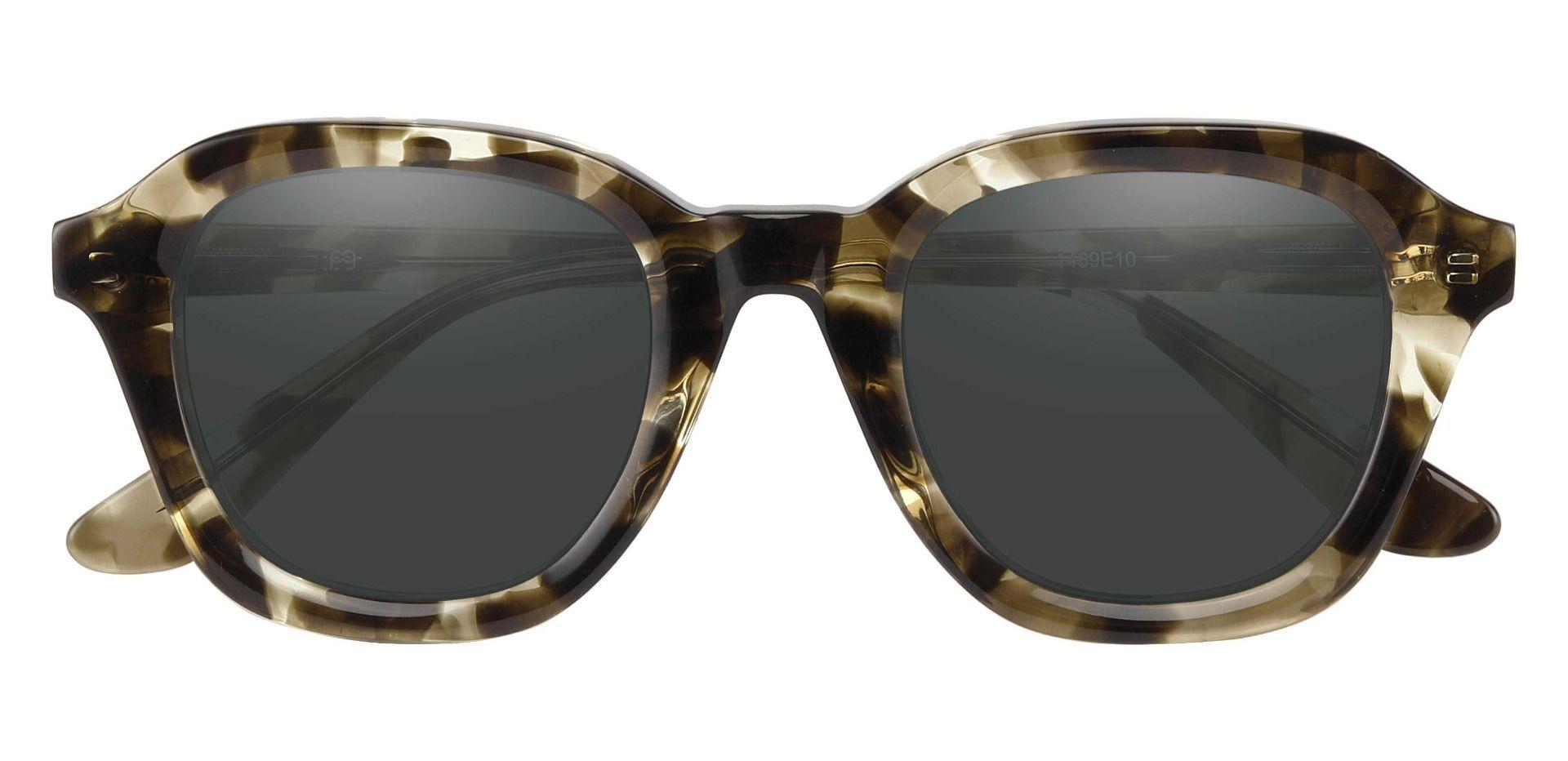 Grove Square Prescription Sunglasses - Green Frame With Gray Lenses